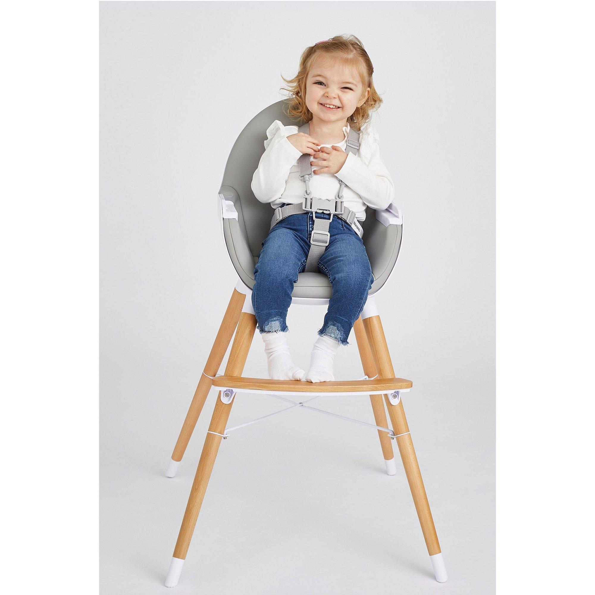 Image of Koo-di Duo Grey Wooden Highchair