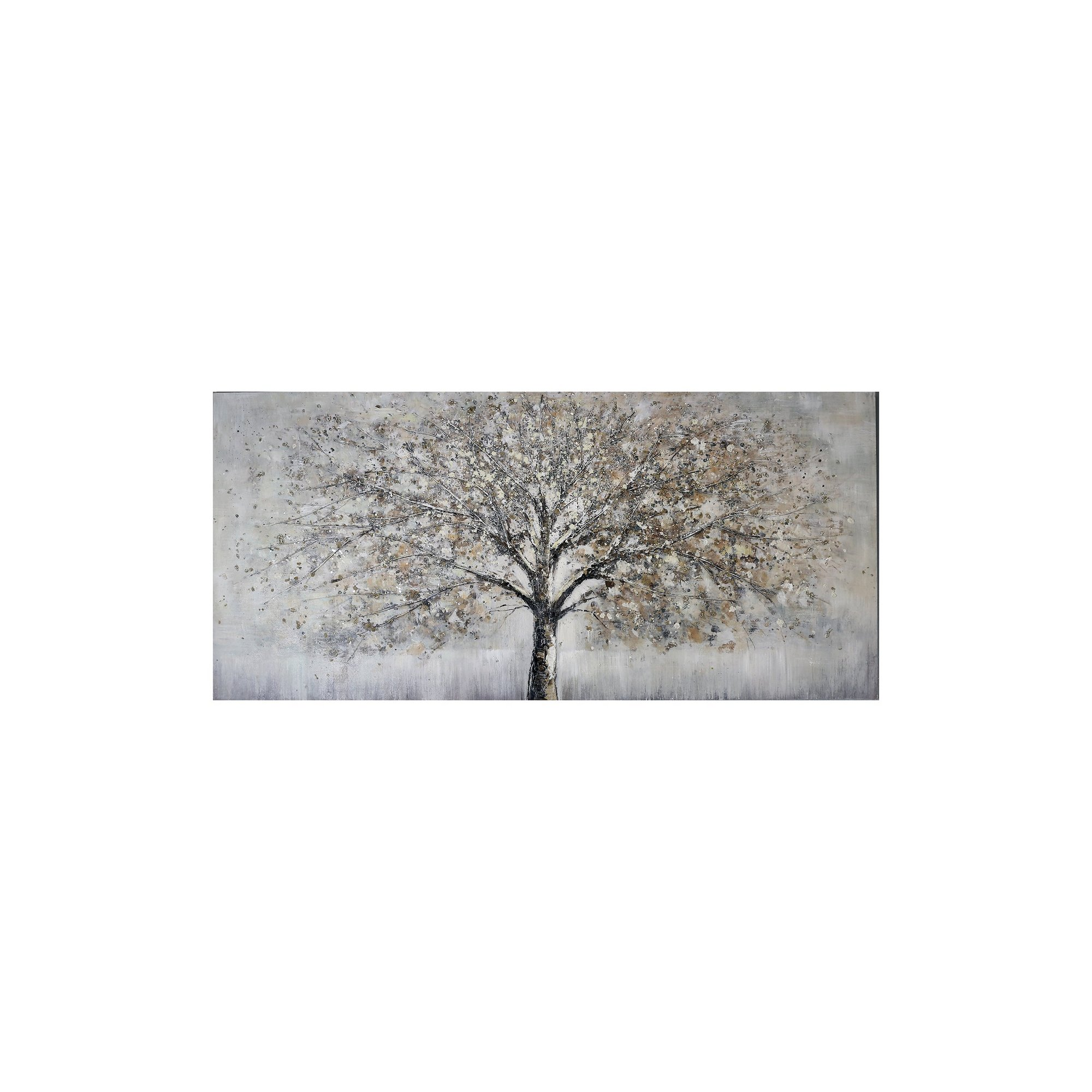 Image of 3D Embellished Handpainted Tree Canvas