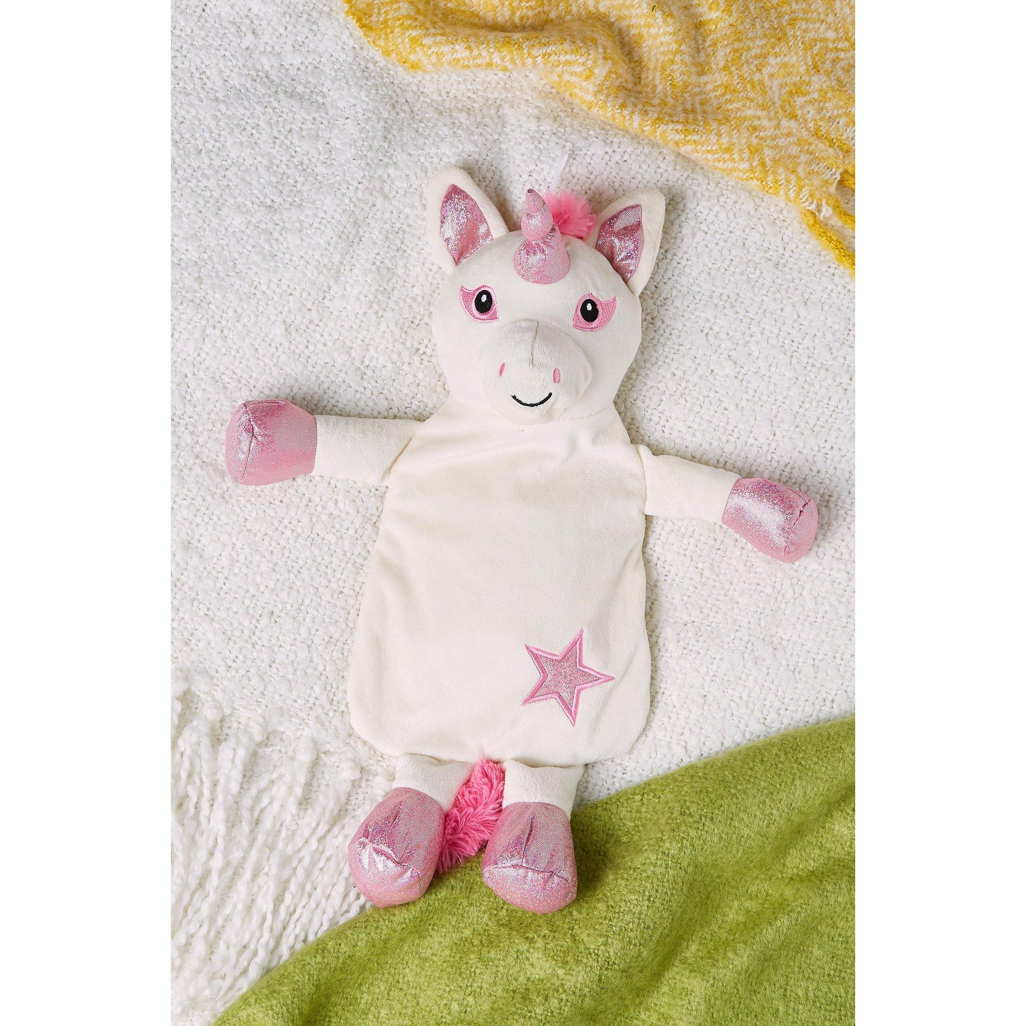 Image of Novelty Hot Water Bottle Unicorn Pink