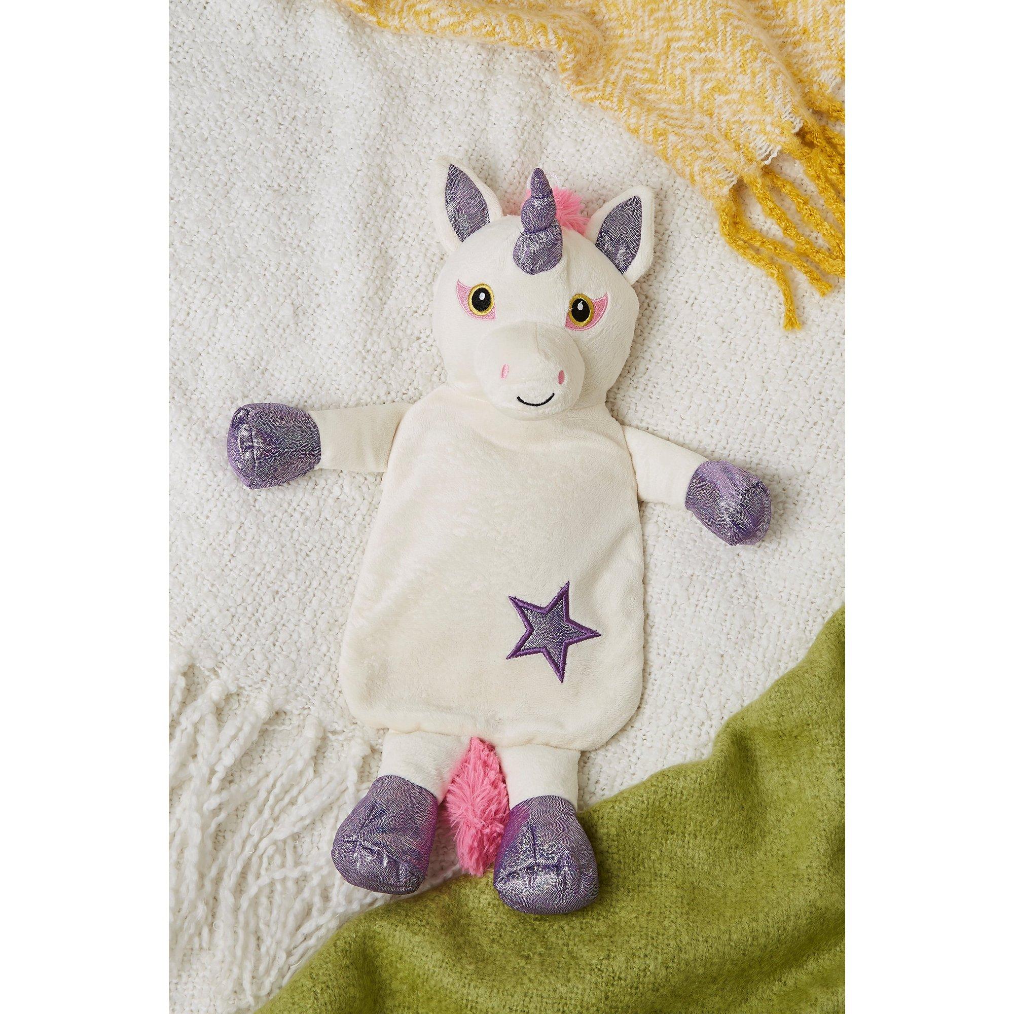 Image of Novelty Hot Water Bottle Unicorn Lilac