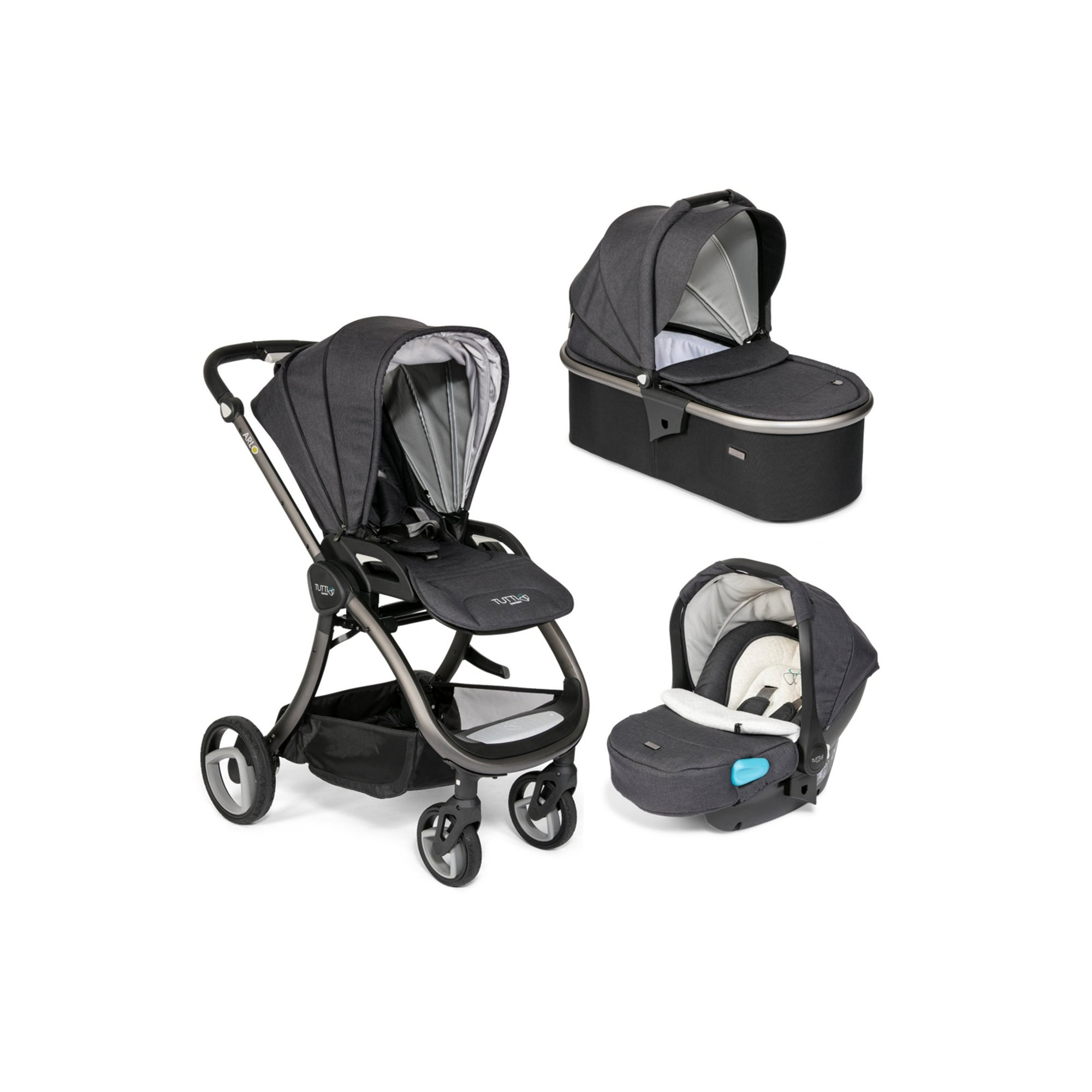 Image of Arlo Charcoal 3 in 1 Travel System