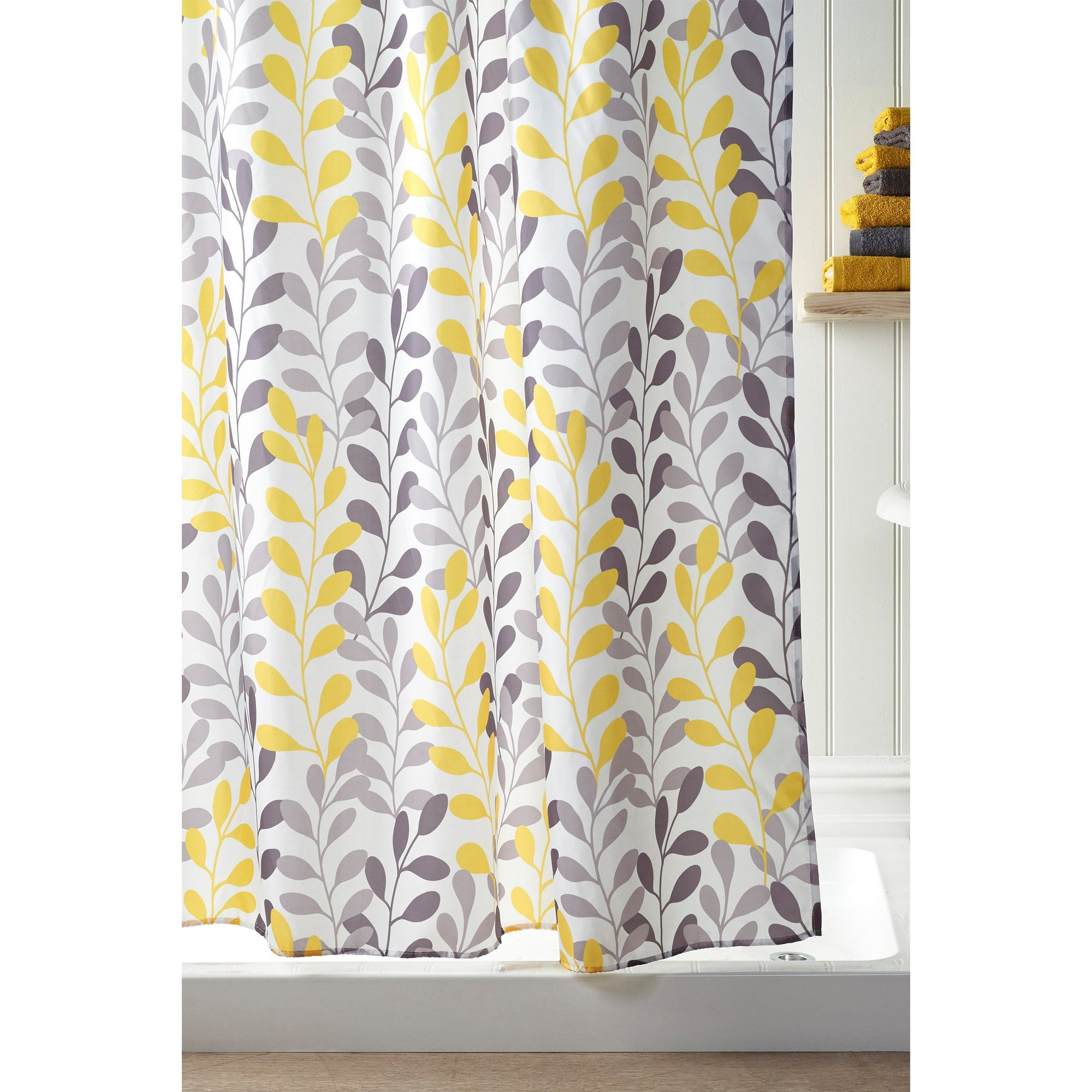 Image of Beldray Floral Trail Shower Curtain