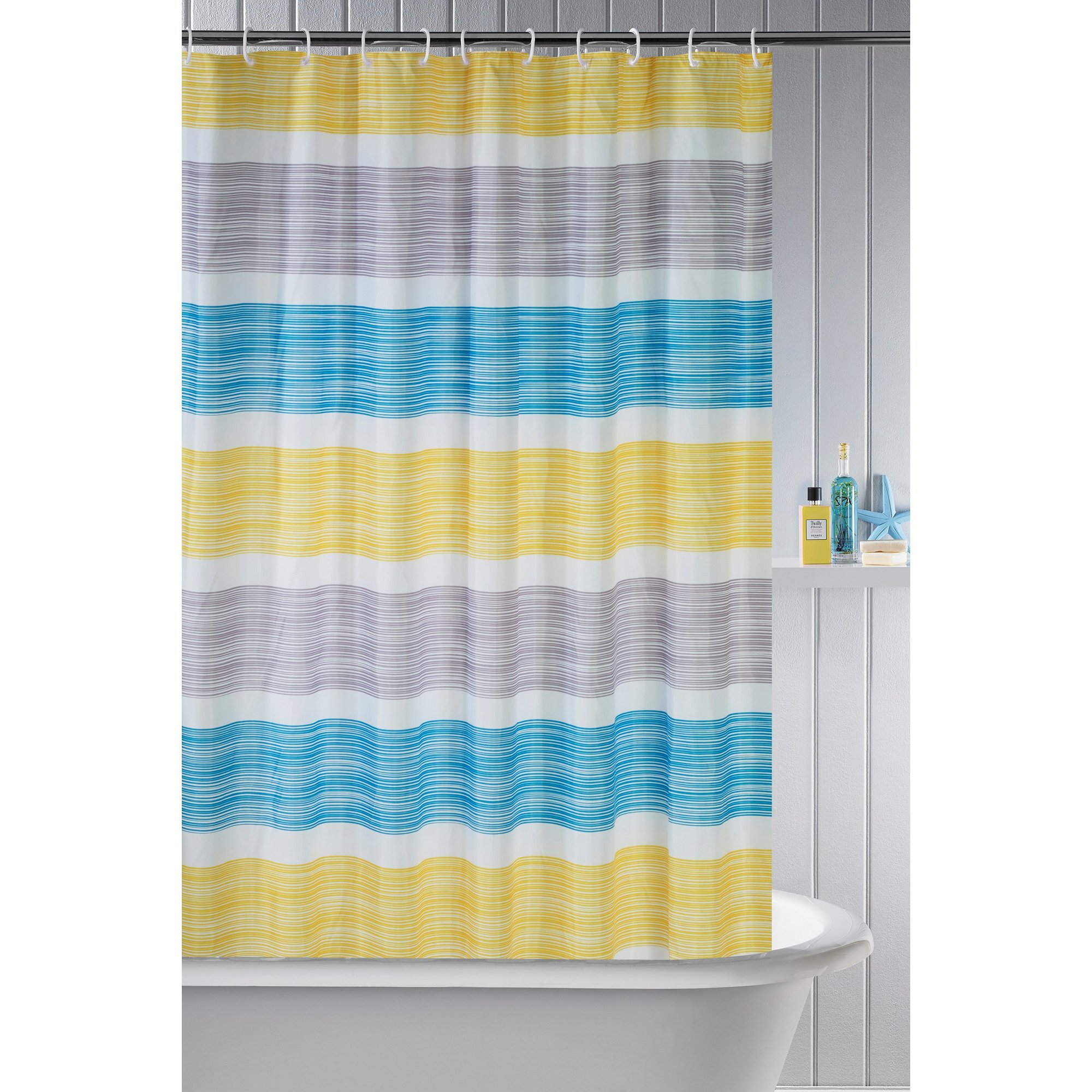 Image of Beldray Stripe Shower Curtain
