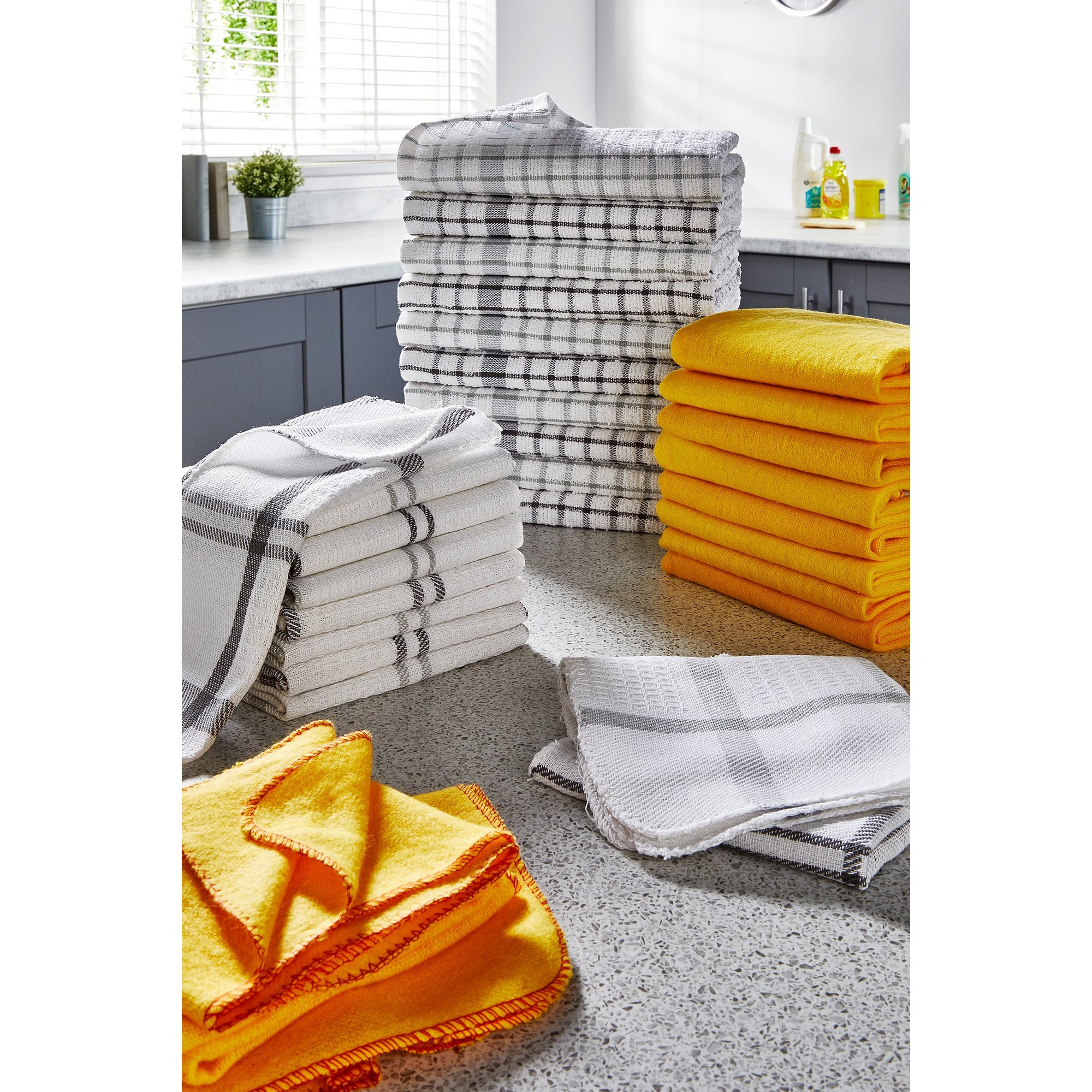 Image of 30-Piece Bumper Grey Check Cleaning Pack