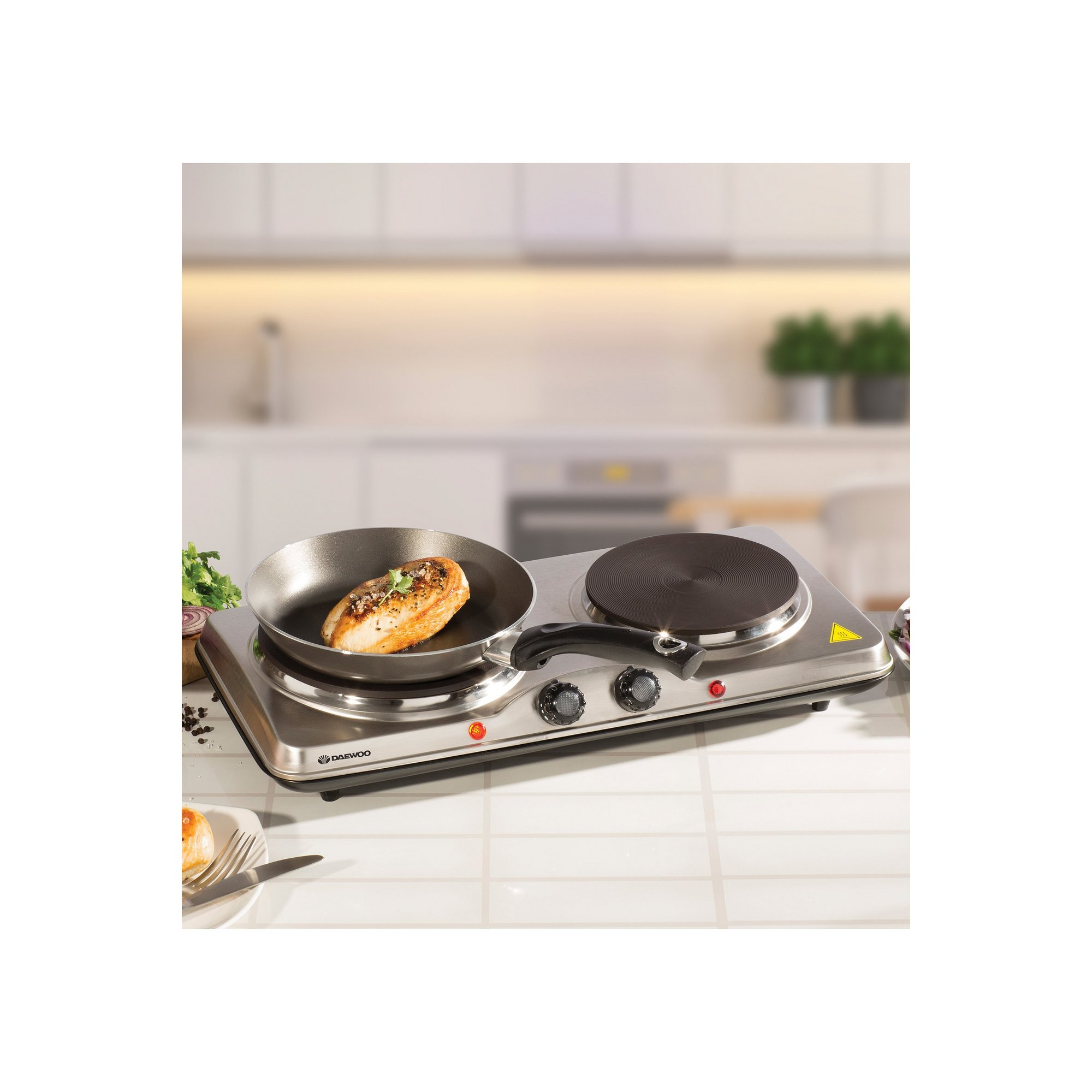Image of Daewoo Double Stainless Steel Hot Plate