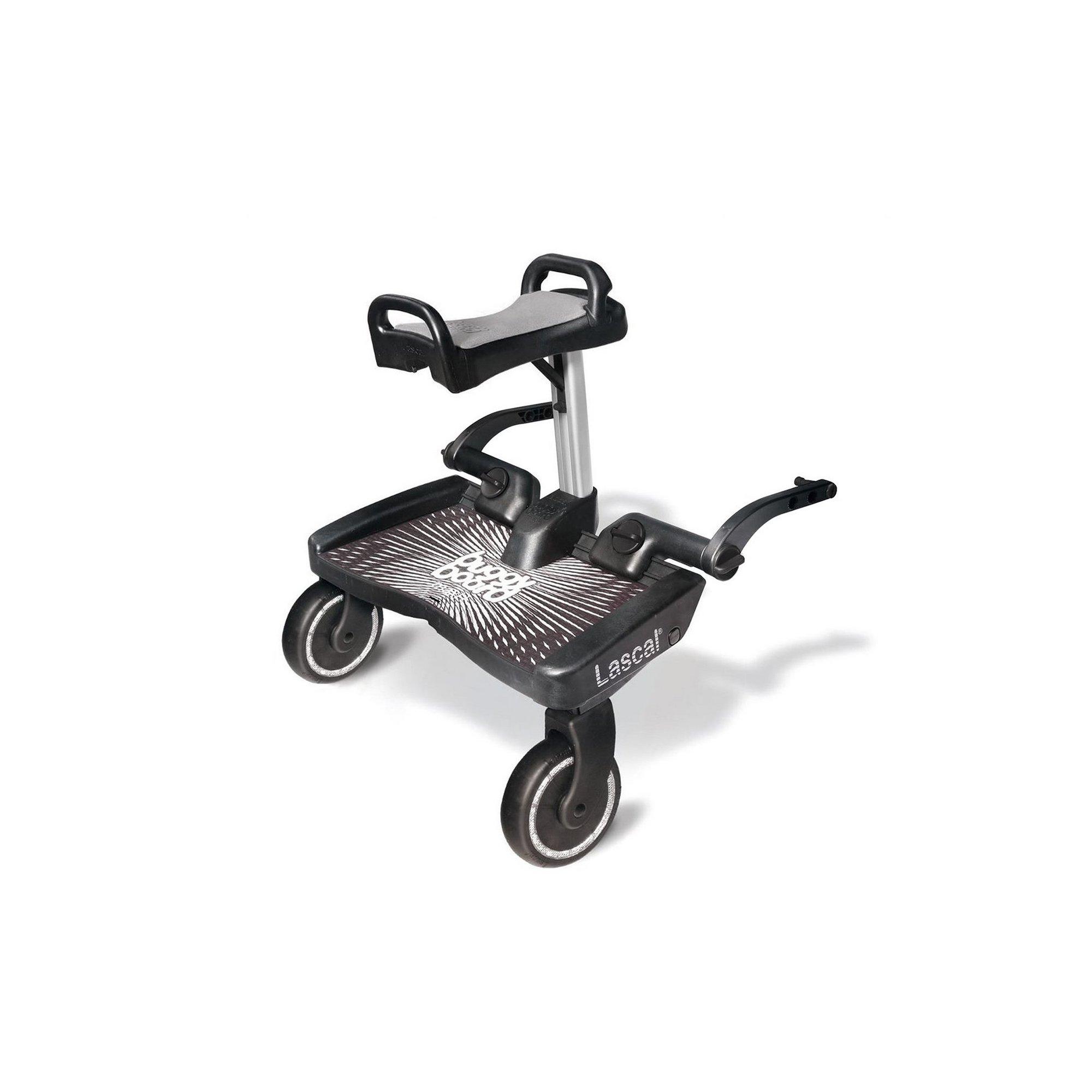 Image of Maxi Plus BuggyBoard Black BuggyBoard with Grey Saddle