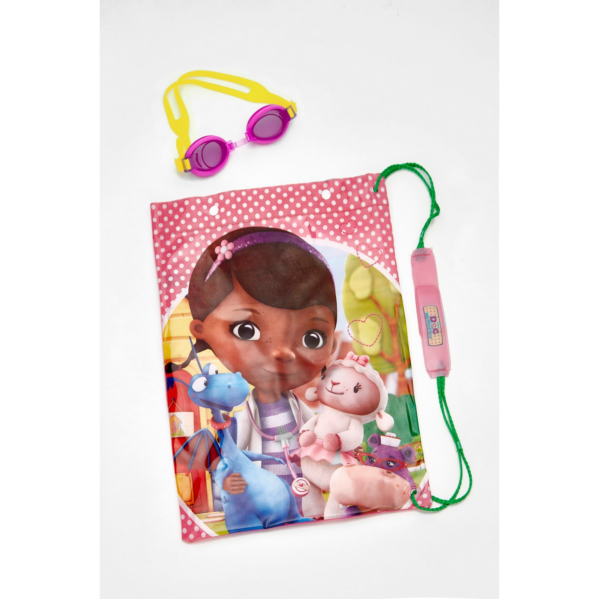 Image of Doc McStuffins Swimbag with Goggles