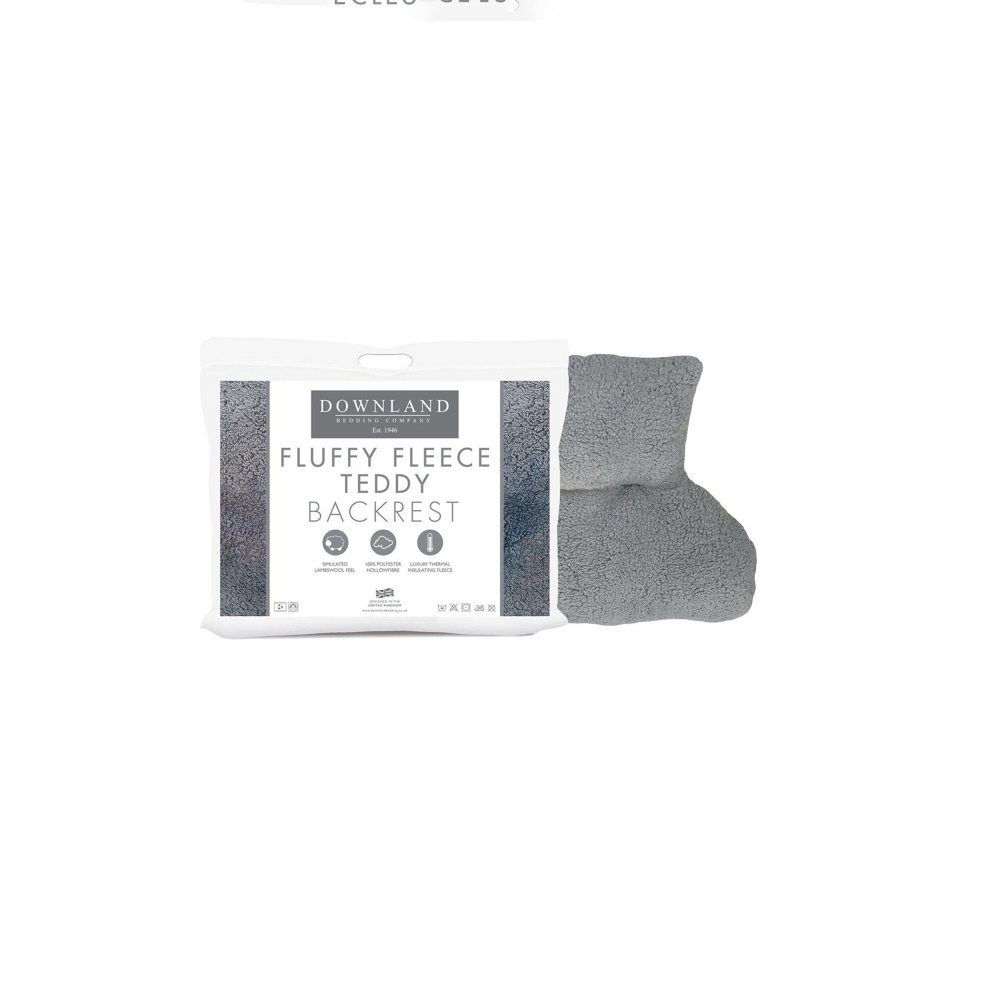 Image of Downland Fluffy Fleece Teddy Backrest Pillow