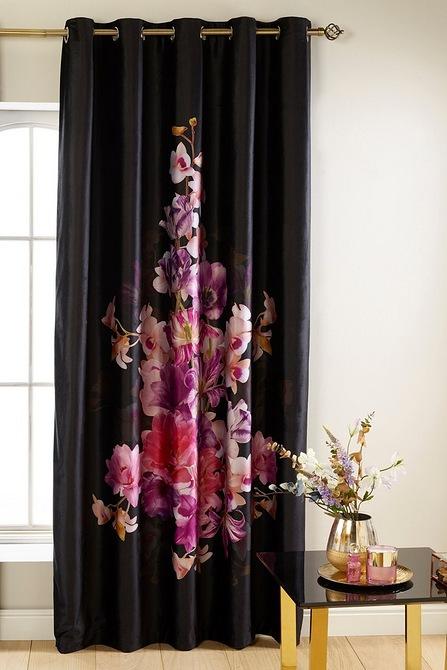 Floral Velvet Eyelet Curtains   Studio