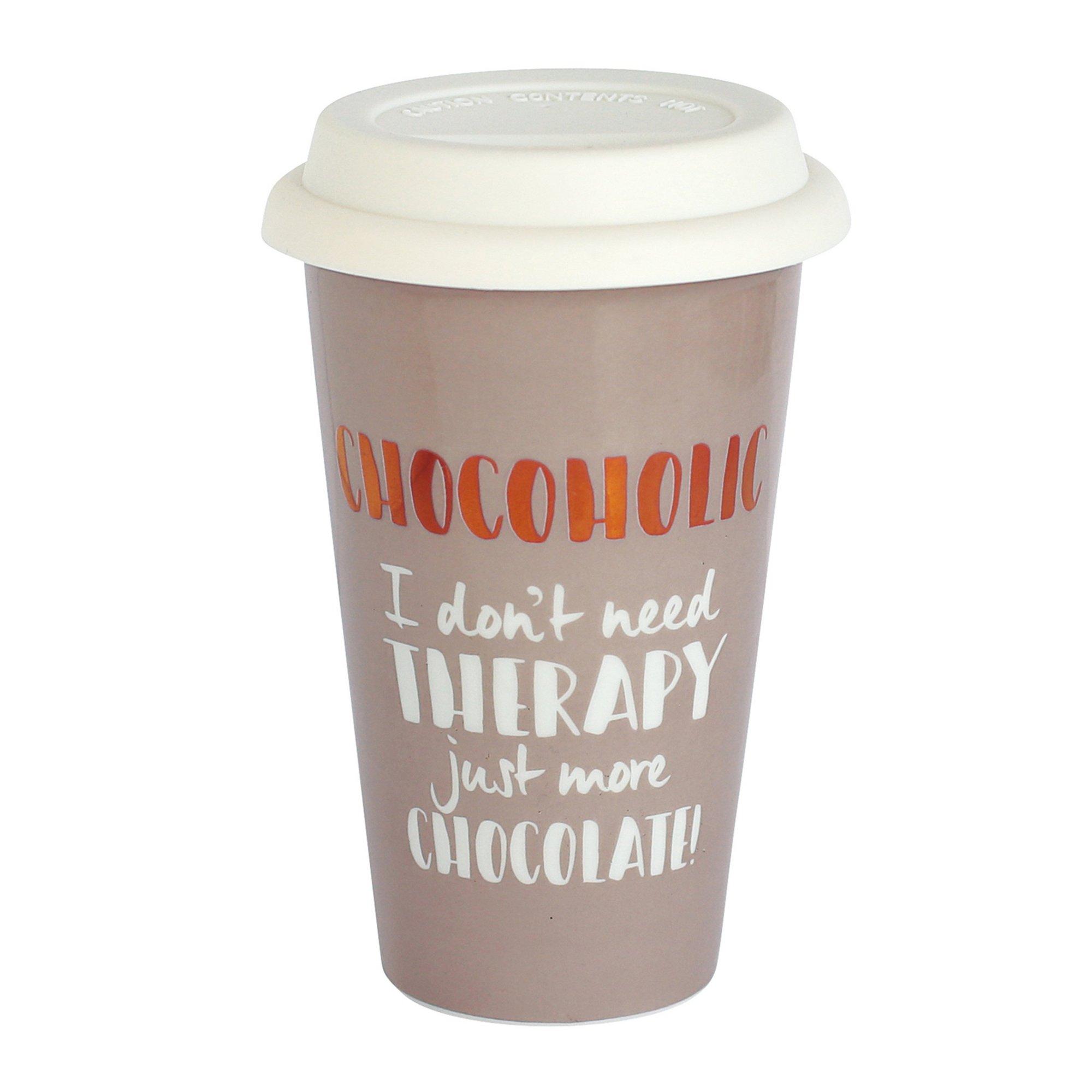 Image of Ceramic Travel Mug - Chocoholic