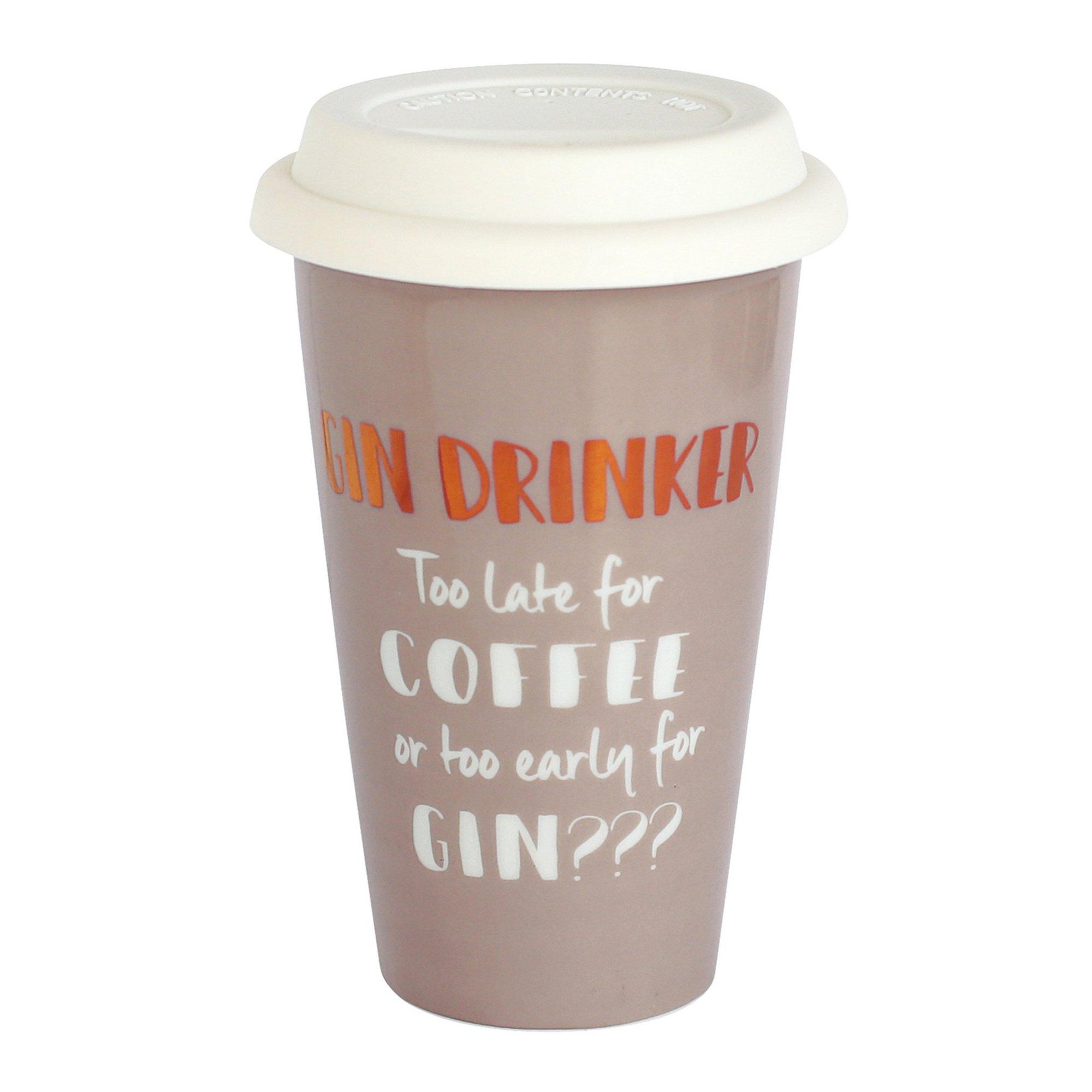 Image of Ceramic Travel Mug - Gin Drinker