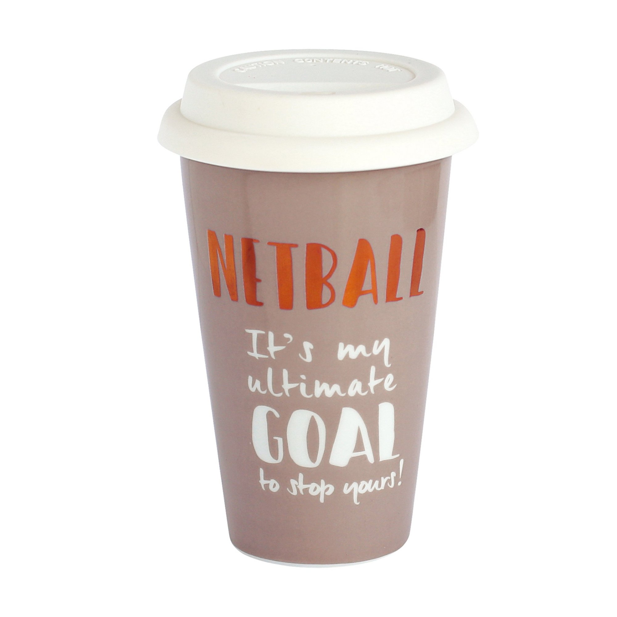 Image of Ceramic Travel Mug - Netball
