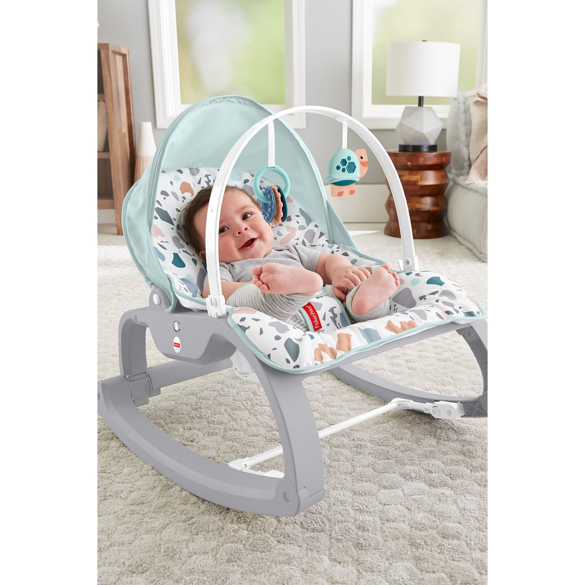 Image of Fisher-Price Deluxe Infant to Toddler Rocker