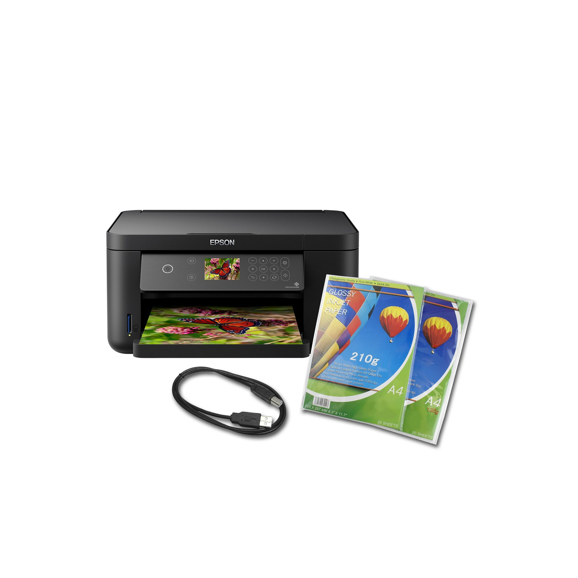 Image of Epson XP-5100 All-in-One with Duplex Wireless Printer Bundle