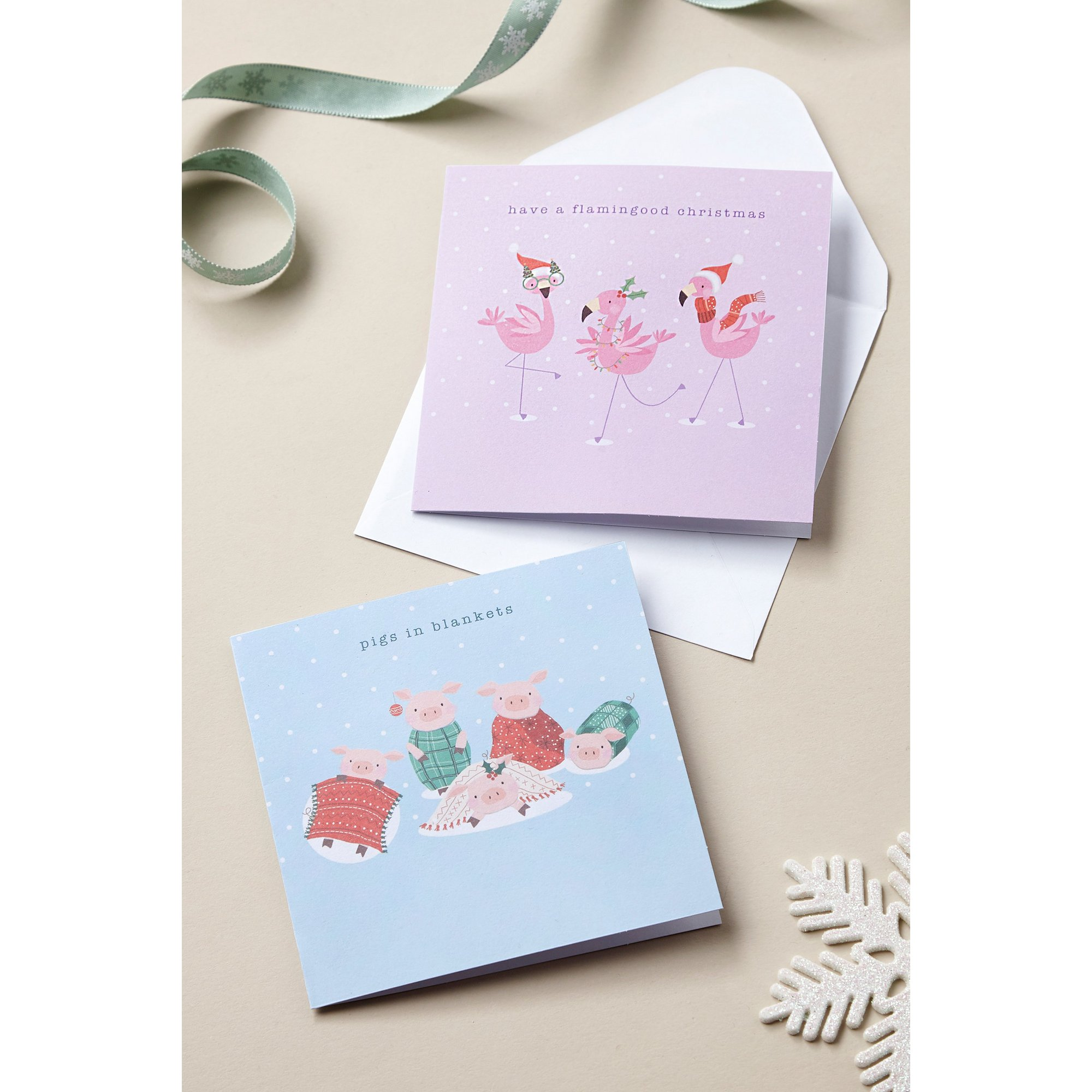Image of Pack of 10 Festive Fun Christmas Cards