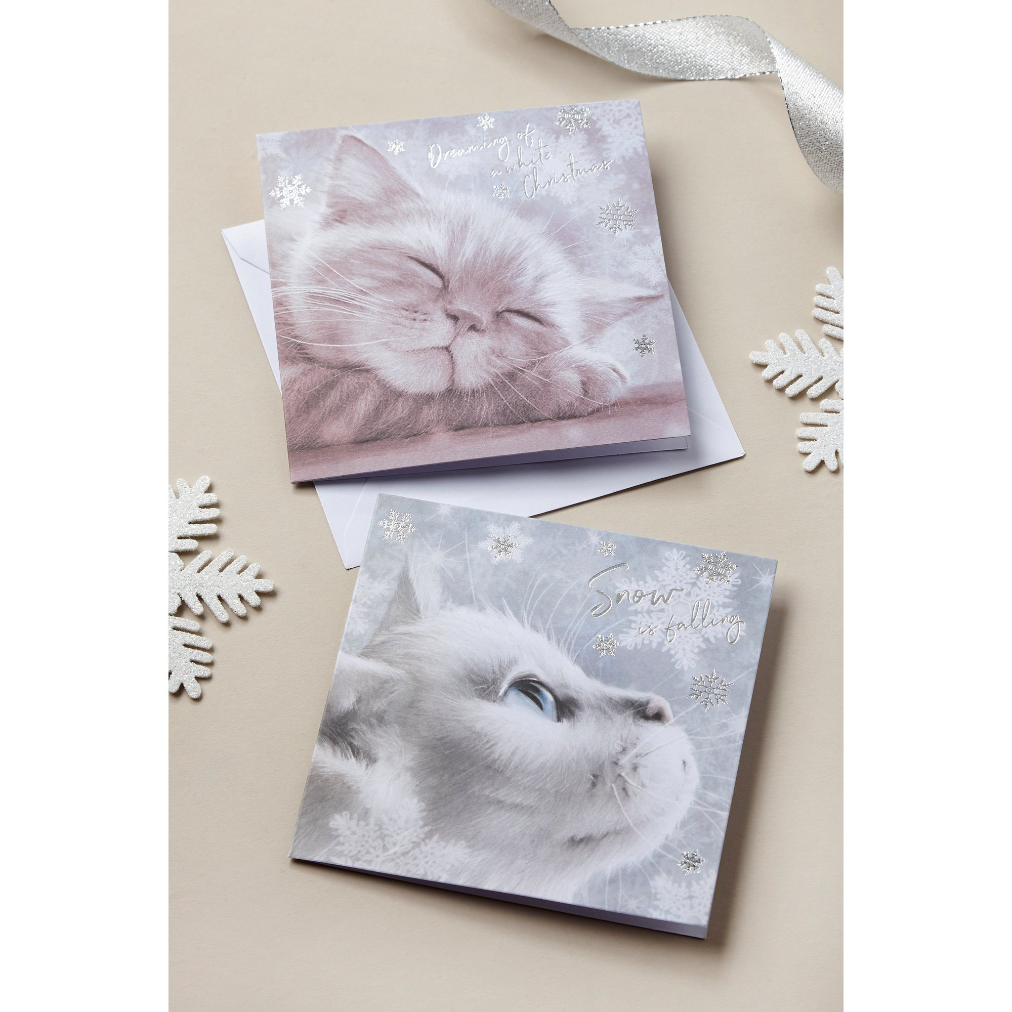 Image of Pack of 10 Purrfect Christmas Cards