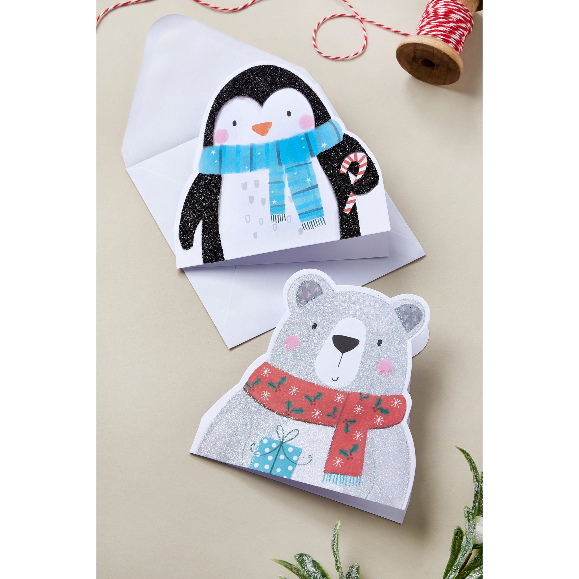Image of Pack of 10 Polar Pals Christmas Cards