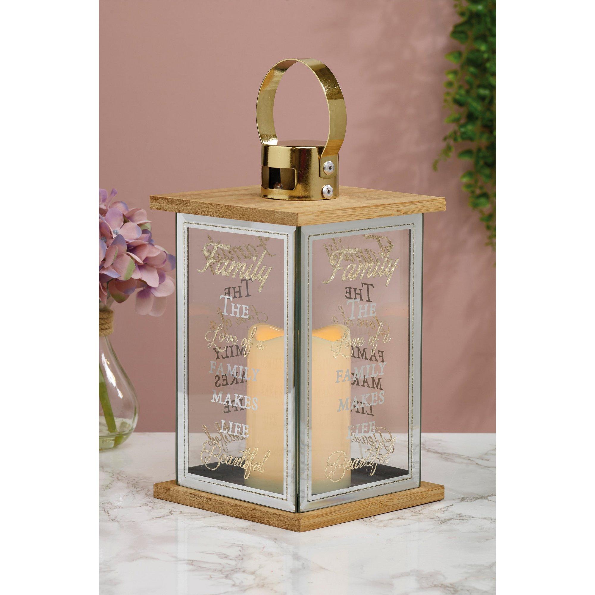 Image of LED Family Glass Lantern