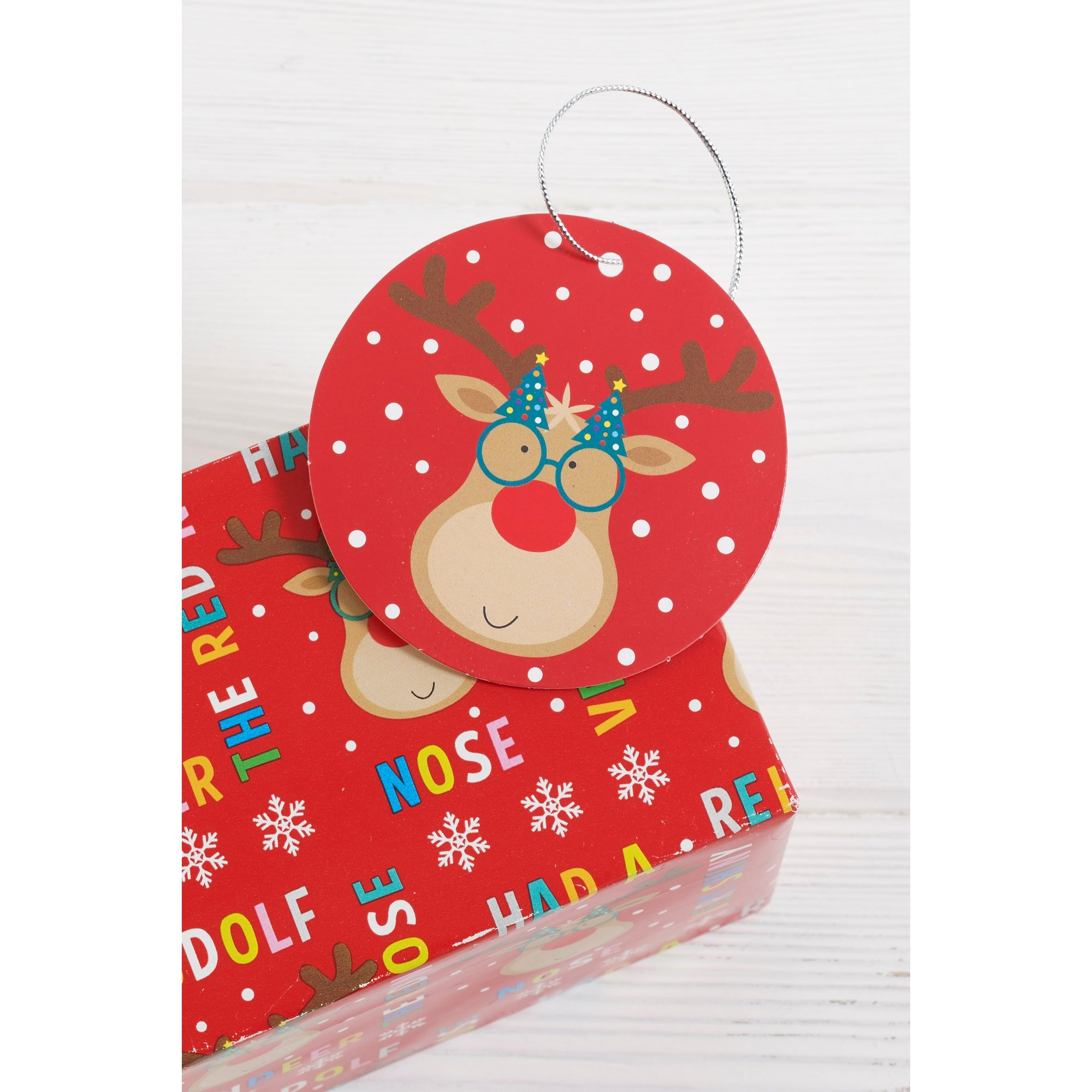 Image of Pack of 10 Rudolf Gift Tags
