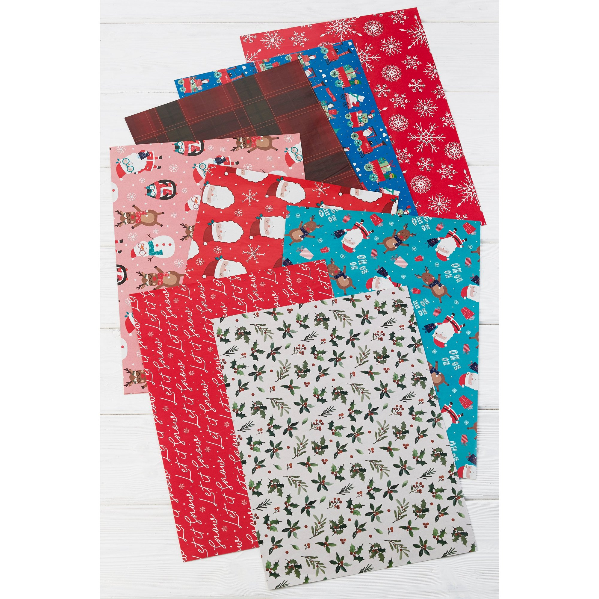 Image of Pack of 8 Christmas Wrap Sheets