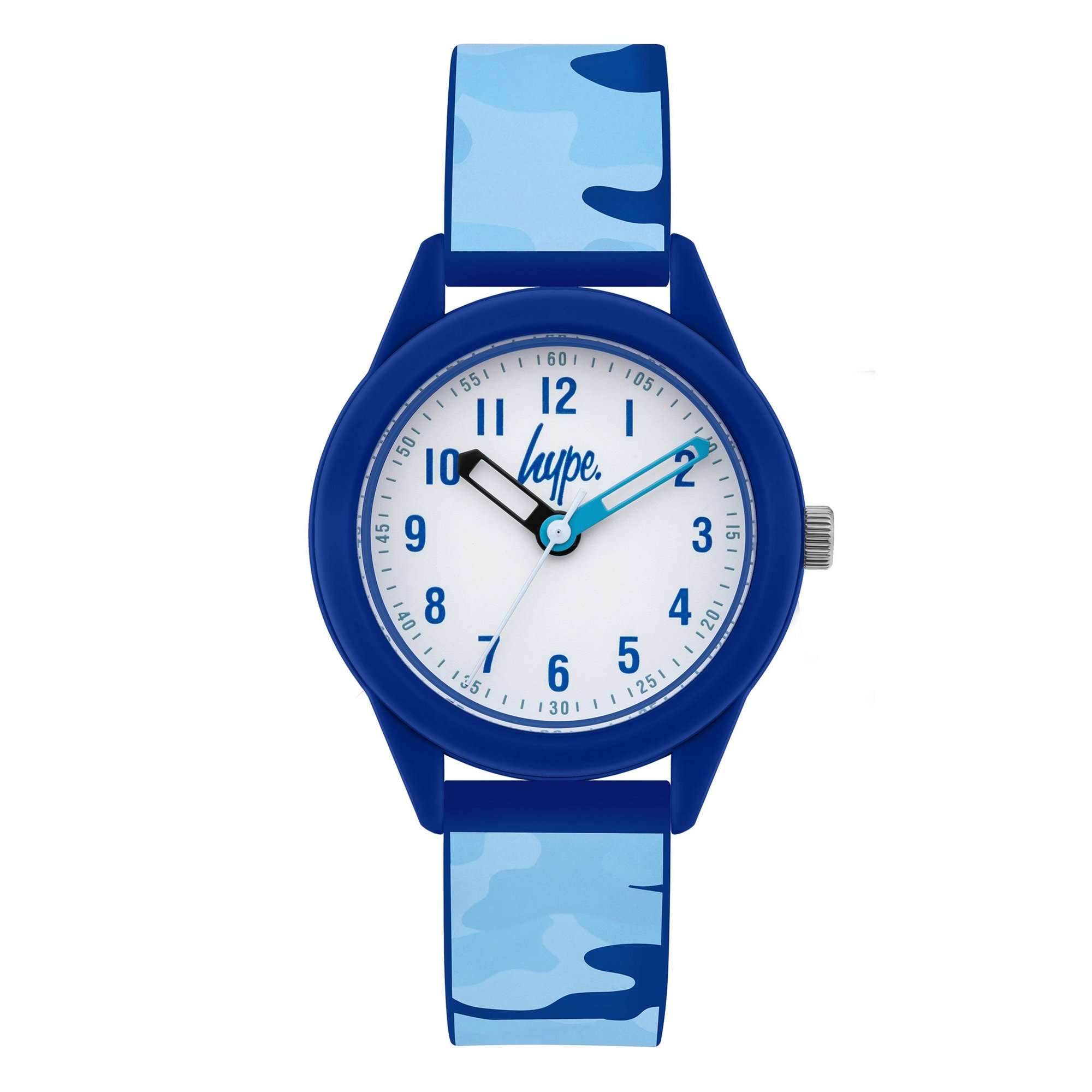 Image of Hype Kids Blue Camo Silicone Strap Watch