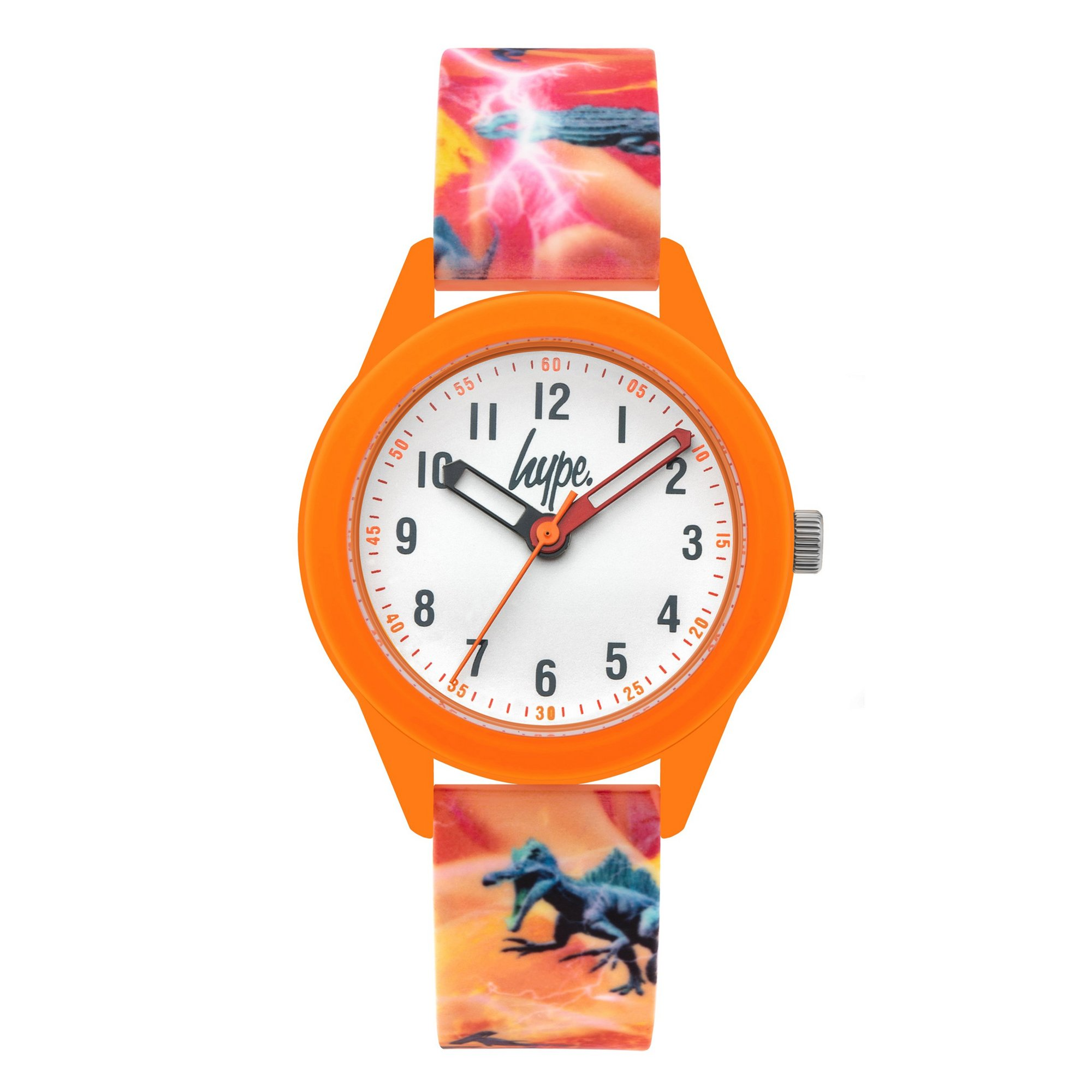 Image of Hype Kids Dinosaur Print Silicone Strap Watch
