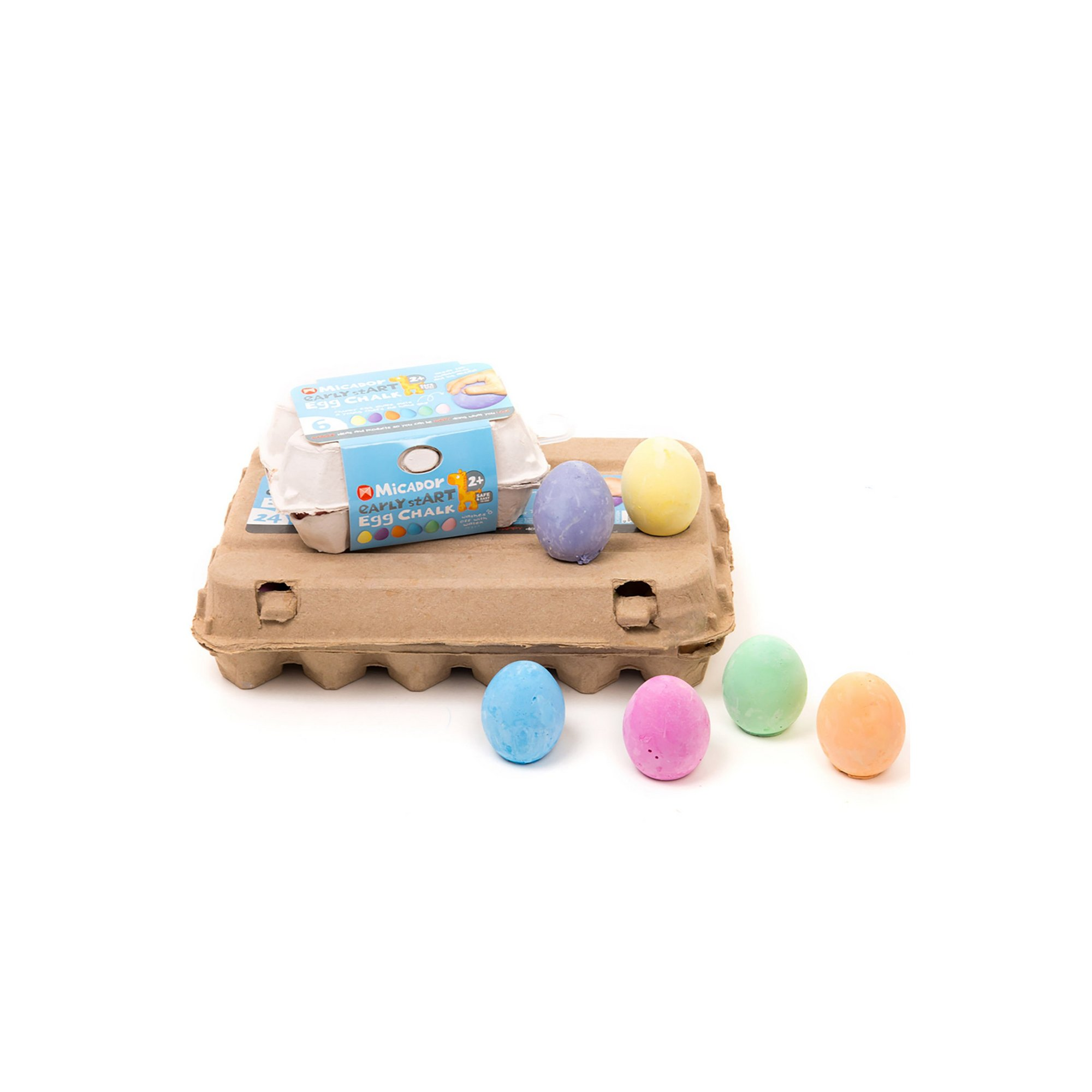 Image of Egg Chalk&#44 Pack 6 Early stART