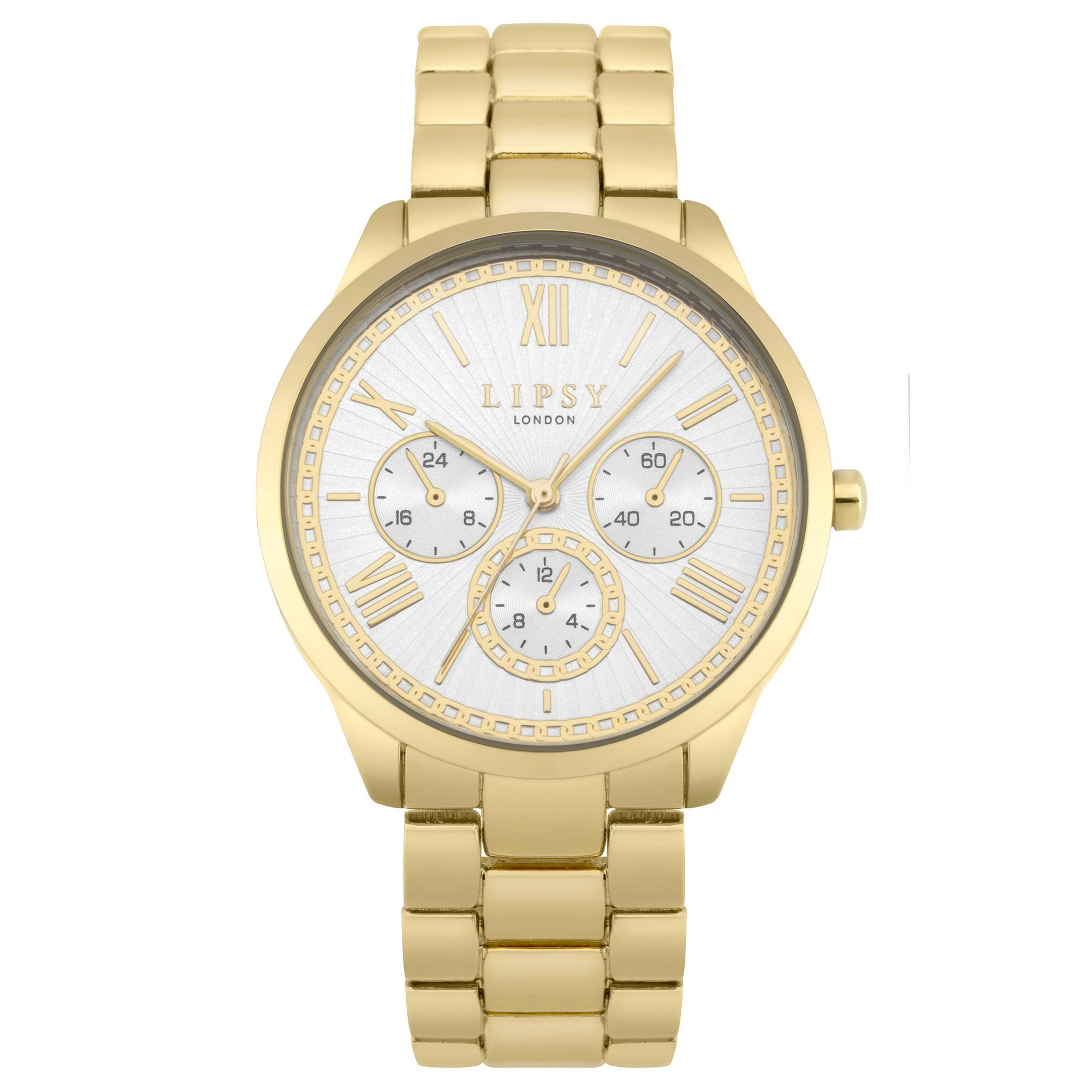 Image of Lipsy Gold Bracelet Watch with White Dial