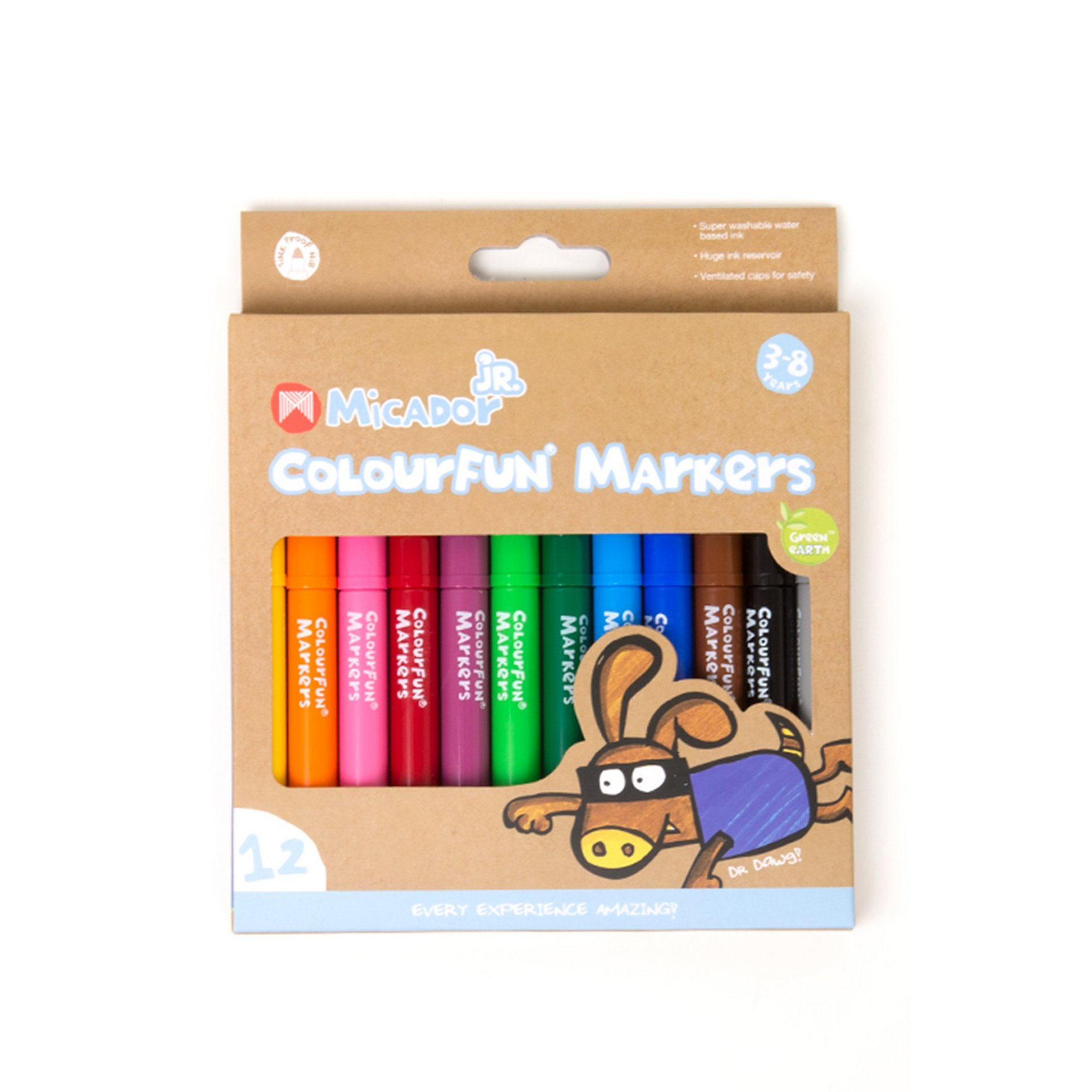 Image of Micador Jr 12 Pack Colourfun Markers