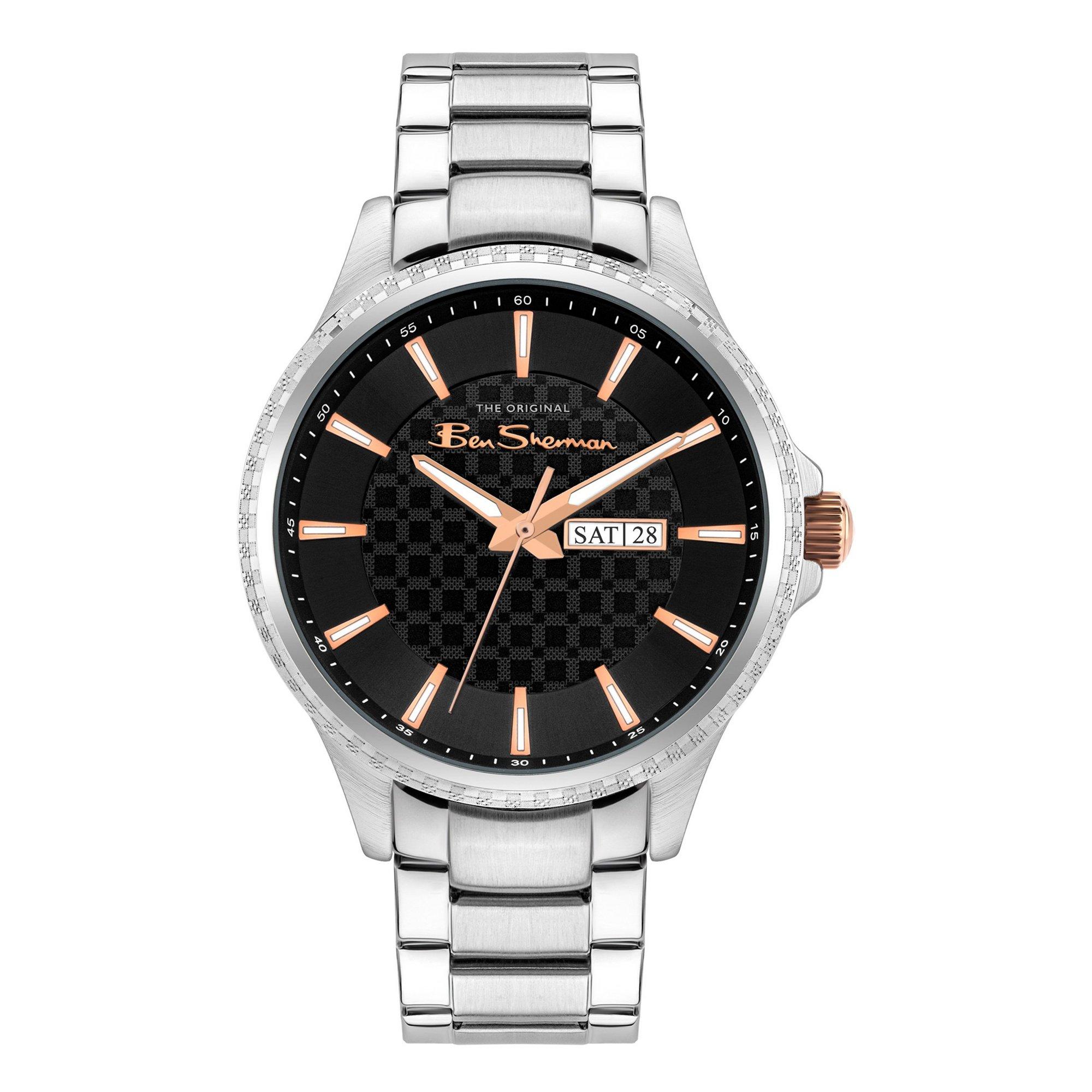 Image of Ben Sherman Silver Bracelet Watch with a Black Dial