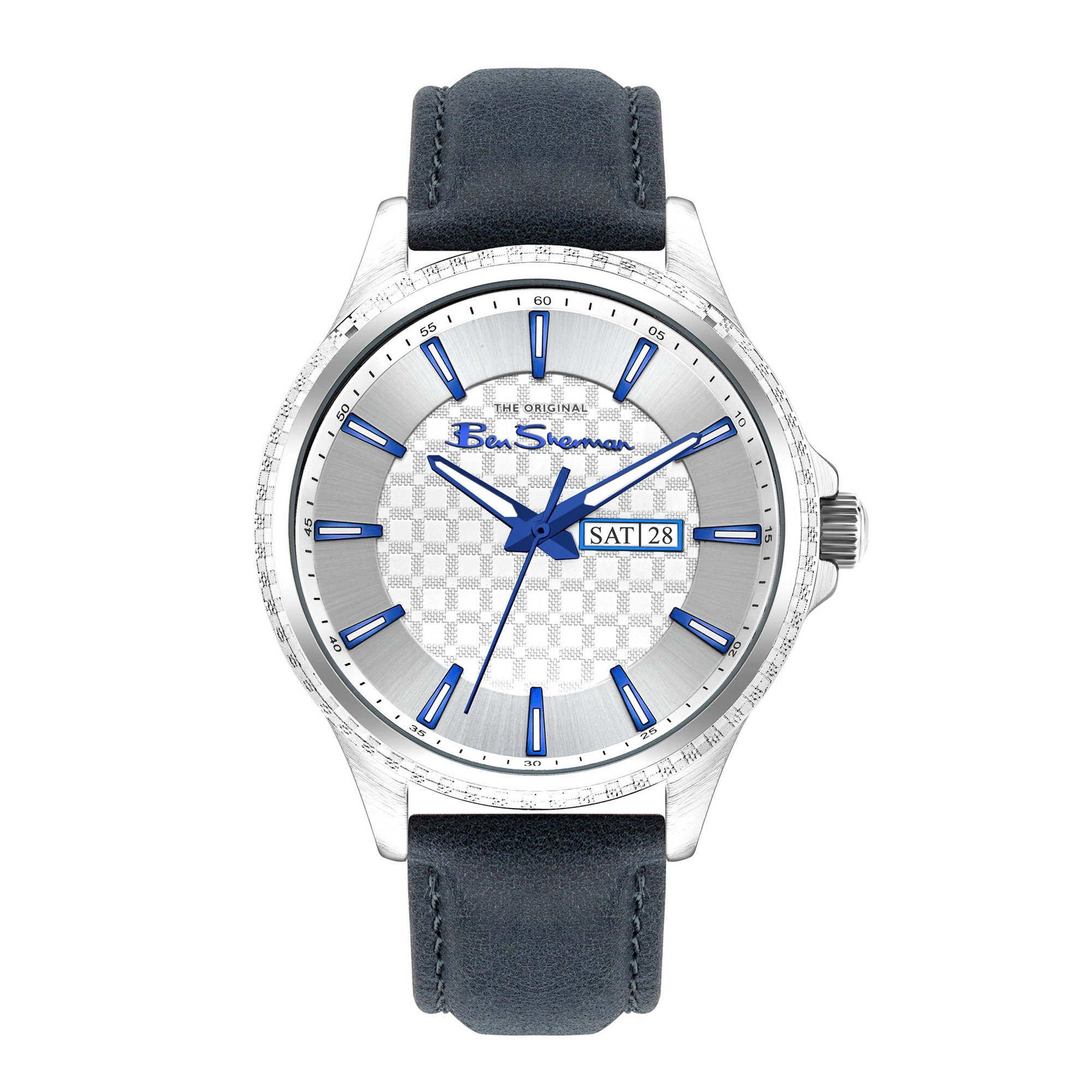 Image of Ben Sherman Watch with a Blue Strap and Silver Dial