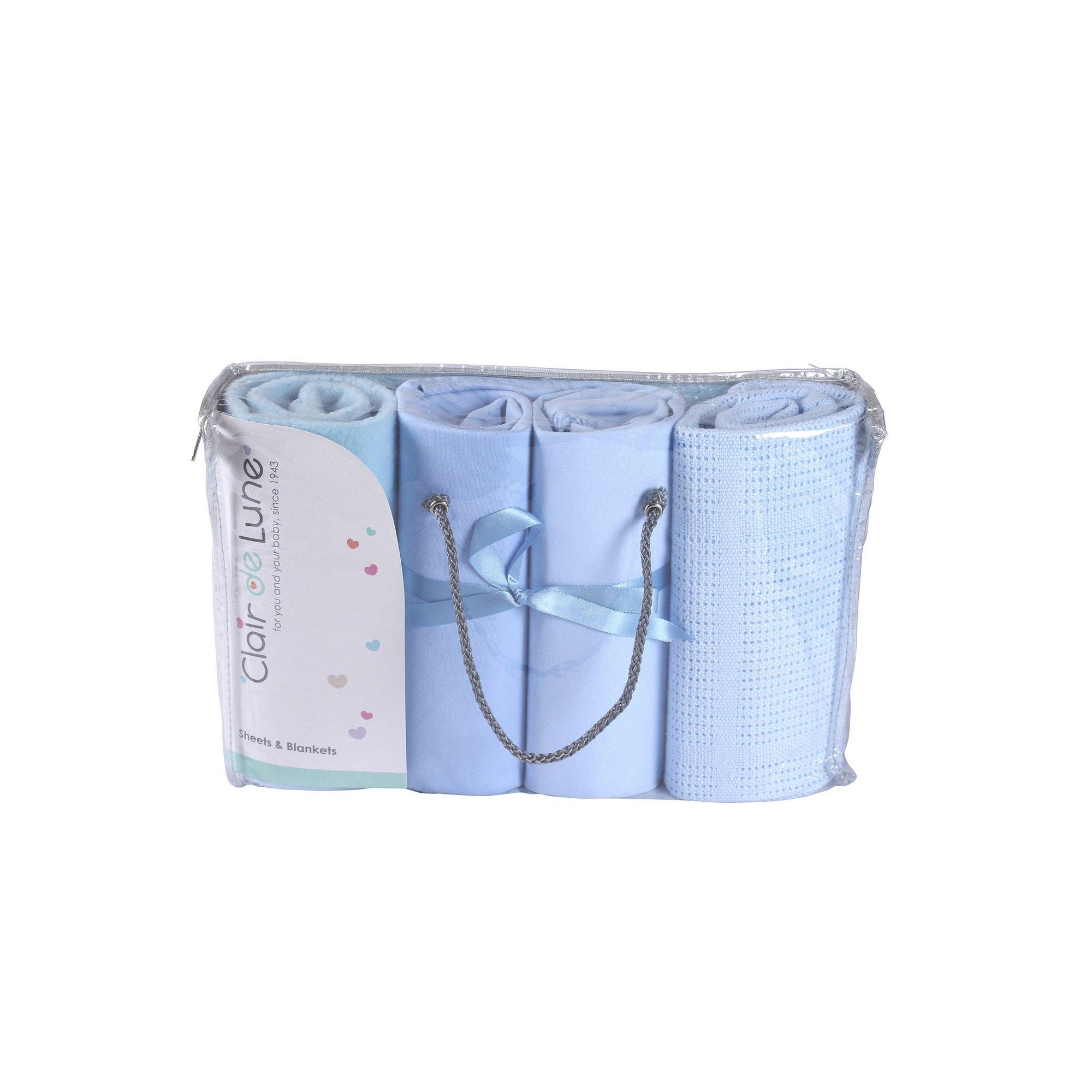 Image of Clair de Lune 4 Piece Moses Basket Bedding Bale Gift Set