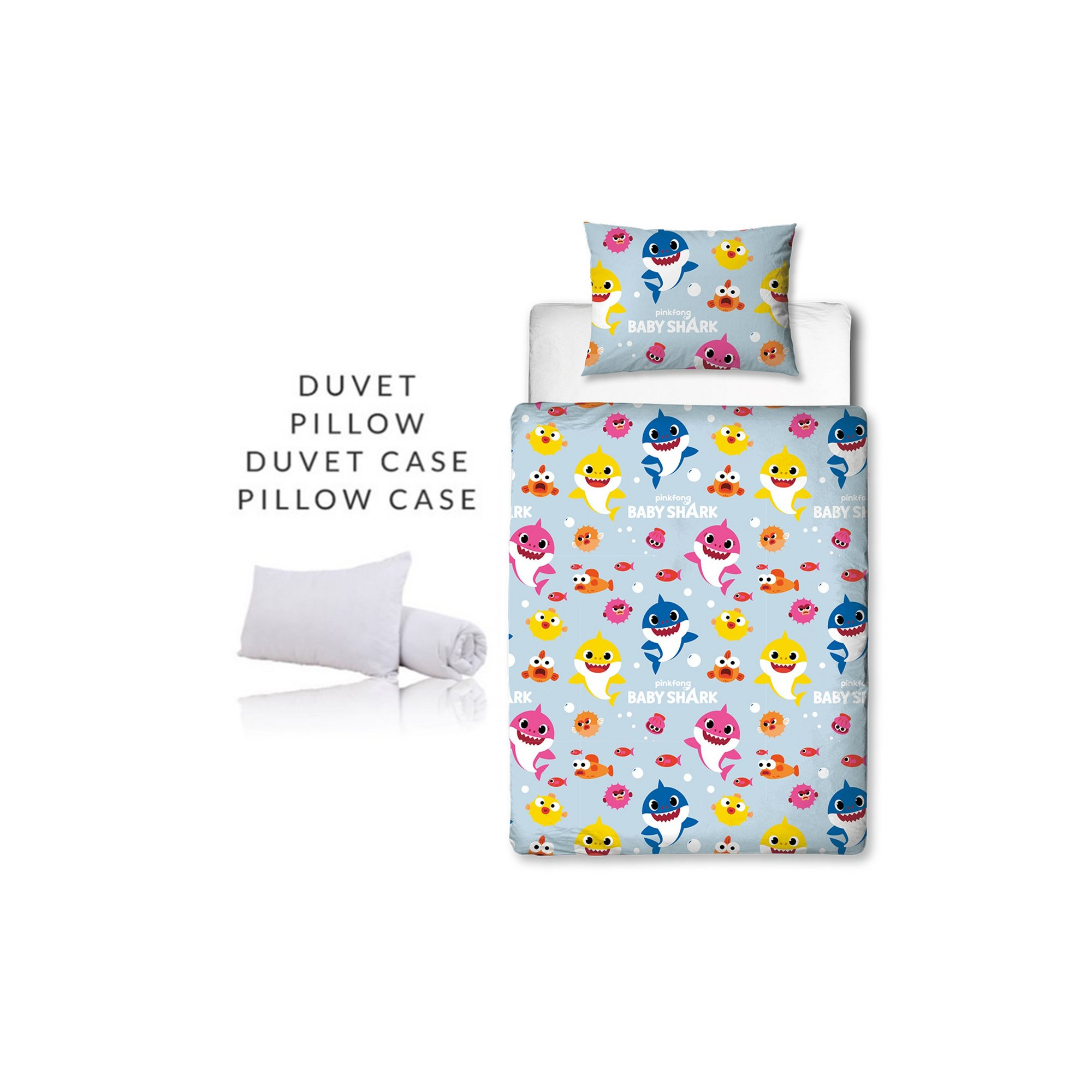 Image of Baby Shark Fishes Junior Bed Bundle