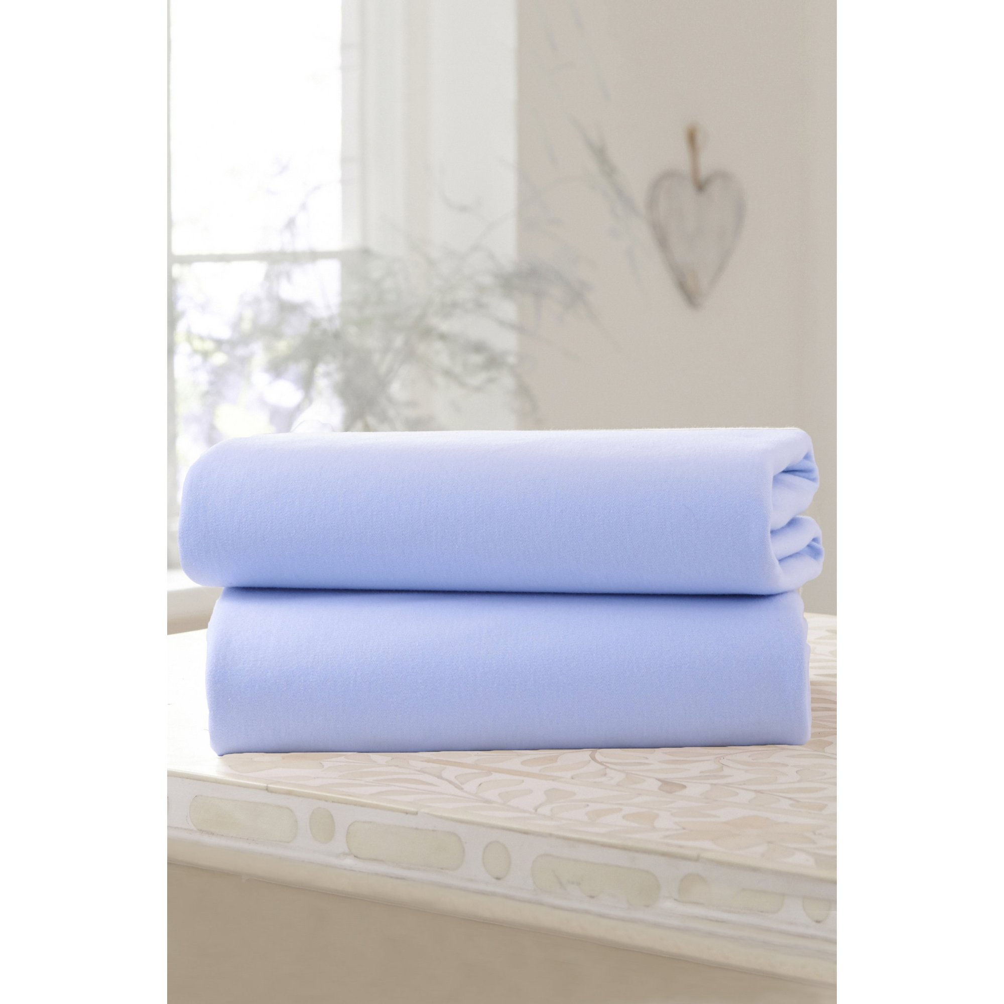 Image of Clair de Lune 2 Pack Fitted Cotton Jersey Cot Bed Sheets