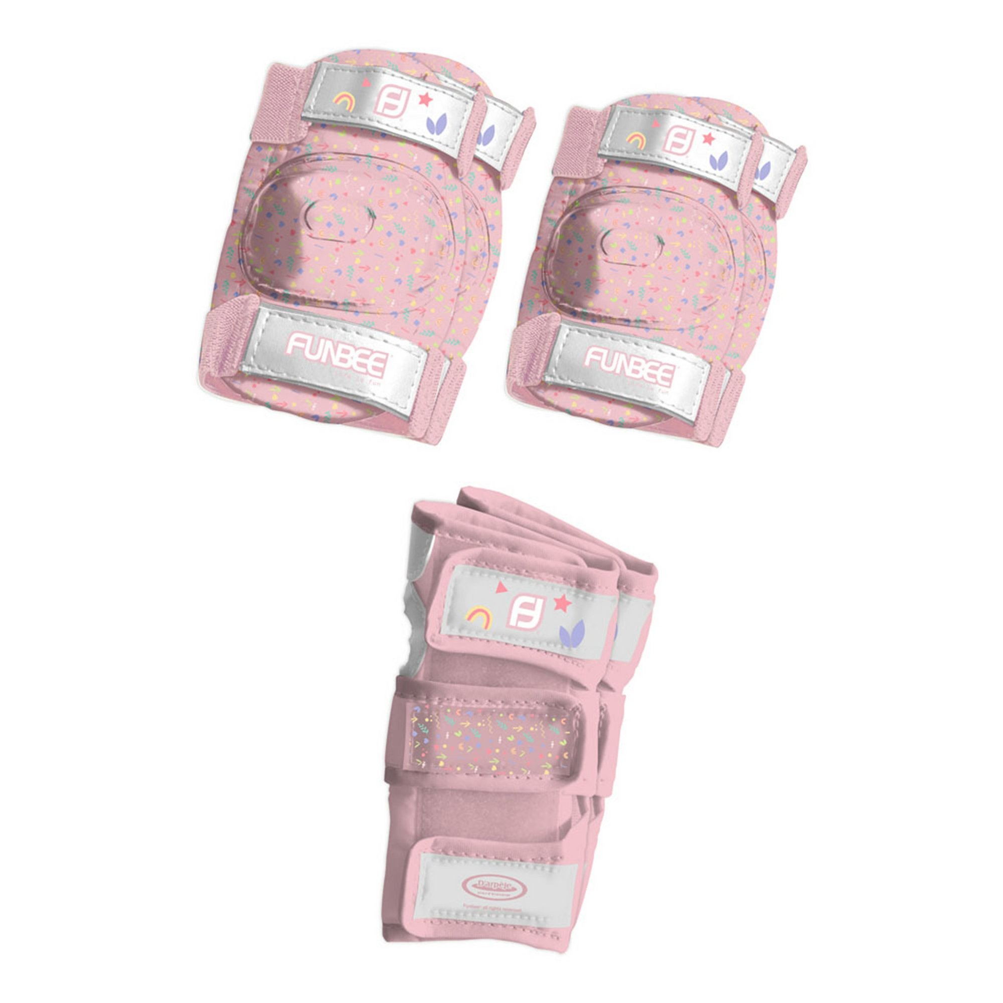 Image of Funbee Girls Extra Small Wrist Guards&#44 Elbow Pads and Small Kn...