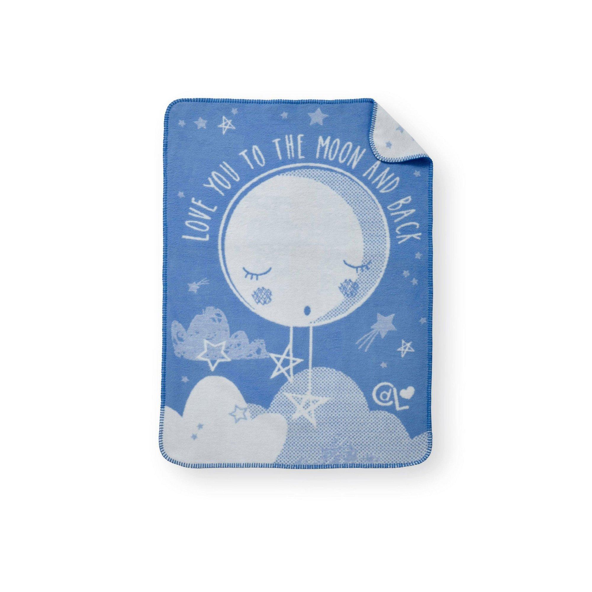 Image of Clair de Lune Over the Moon Fleece Blanket