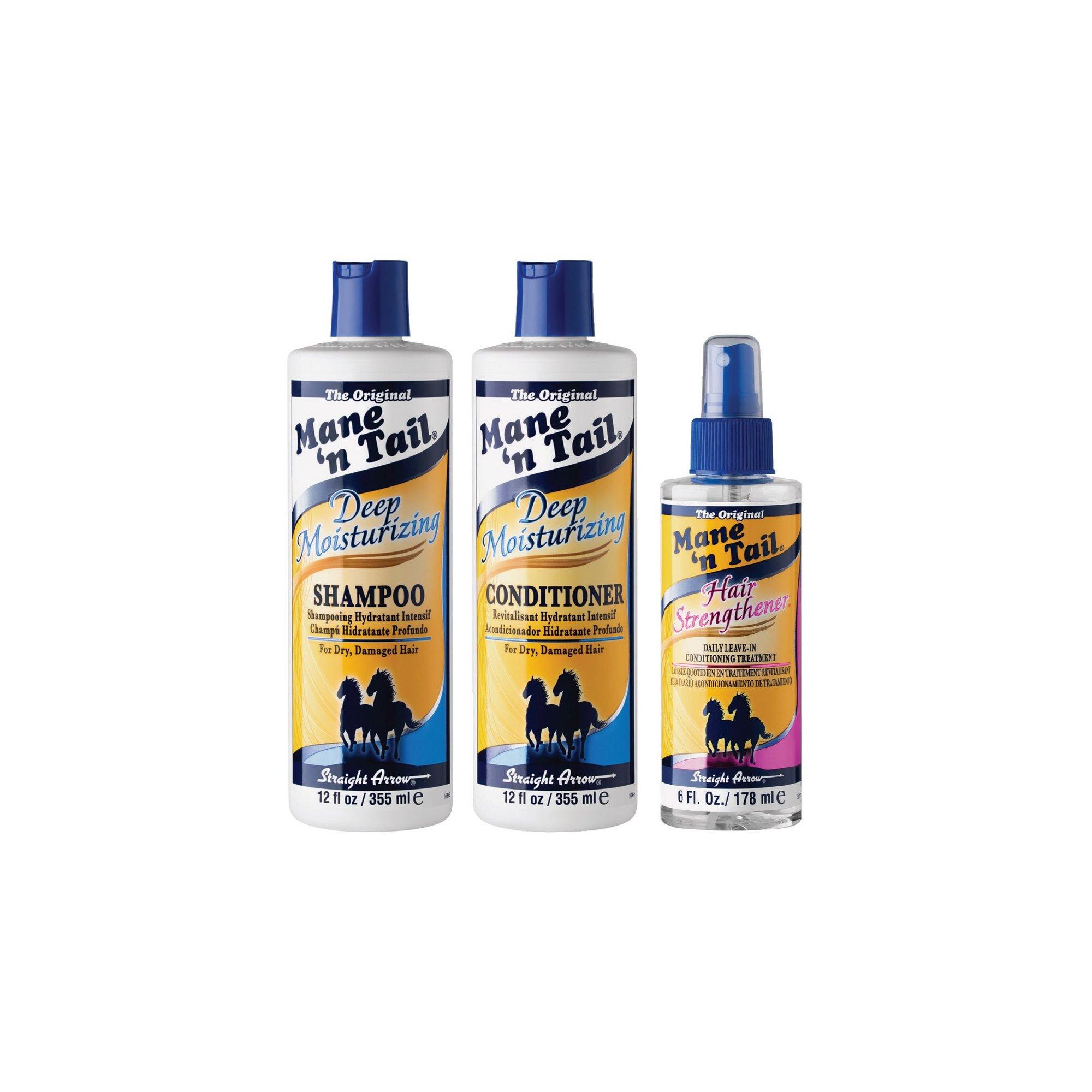 Image of Mane n Tail Deep Moisturising Shampoo&#44 Conditioner + Strengthe...