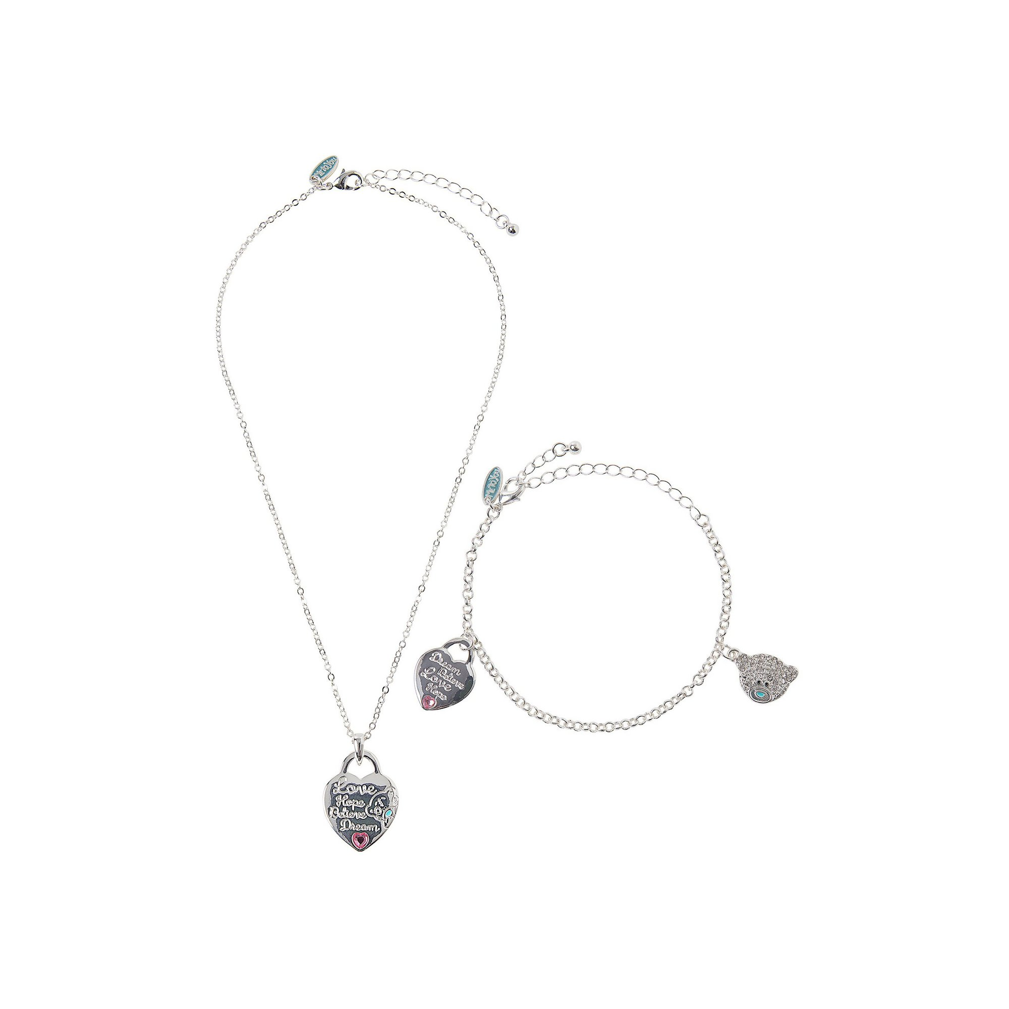 Image of Me To You Heart Bracelet and Pendant Set