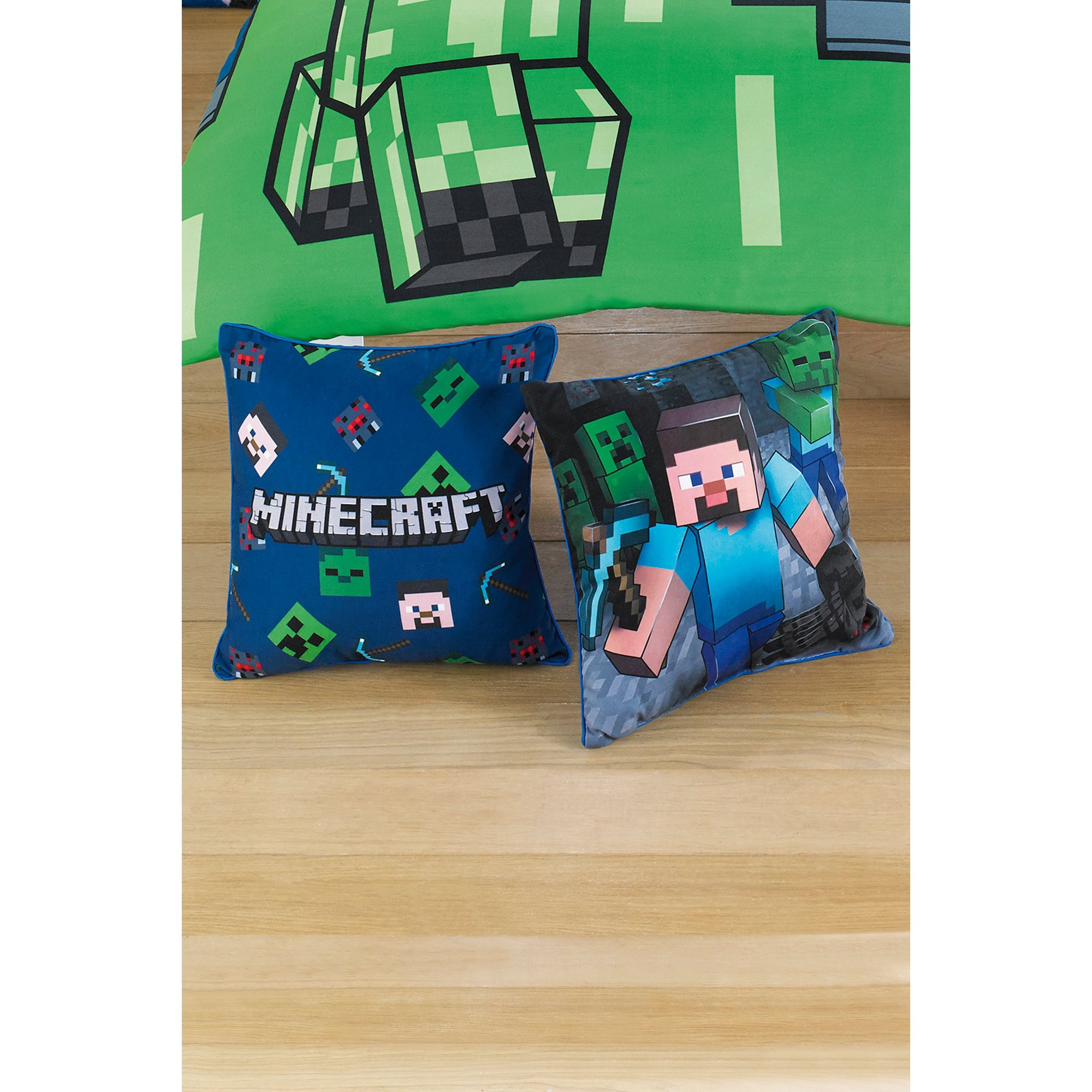 Image of Minecraft Creeps Square Cushion