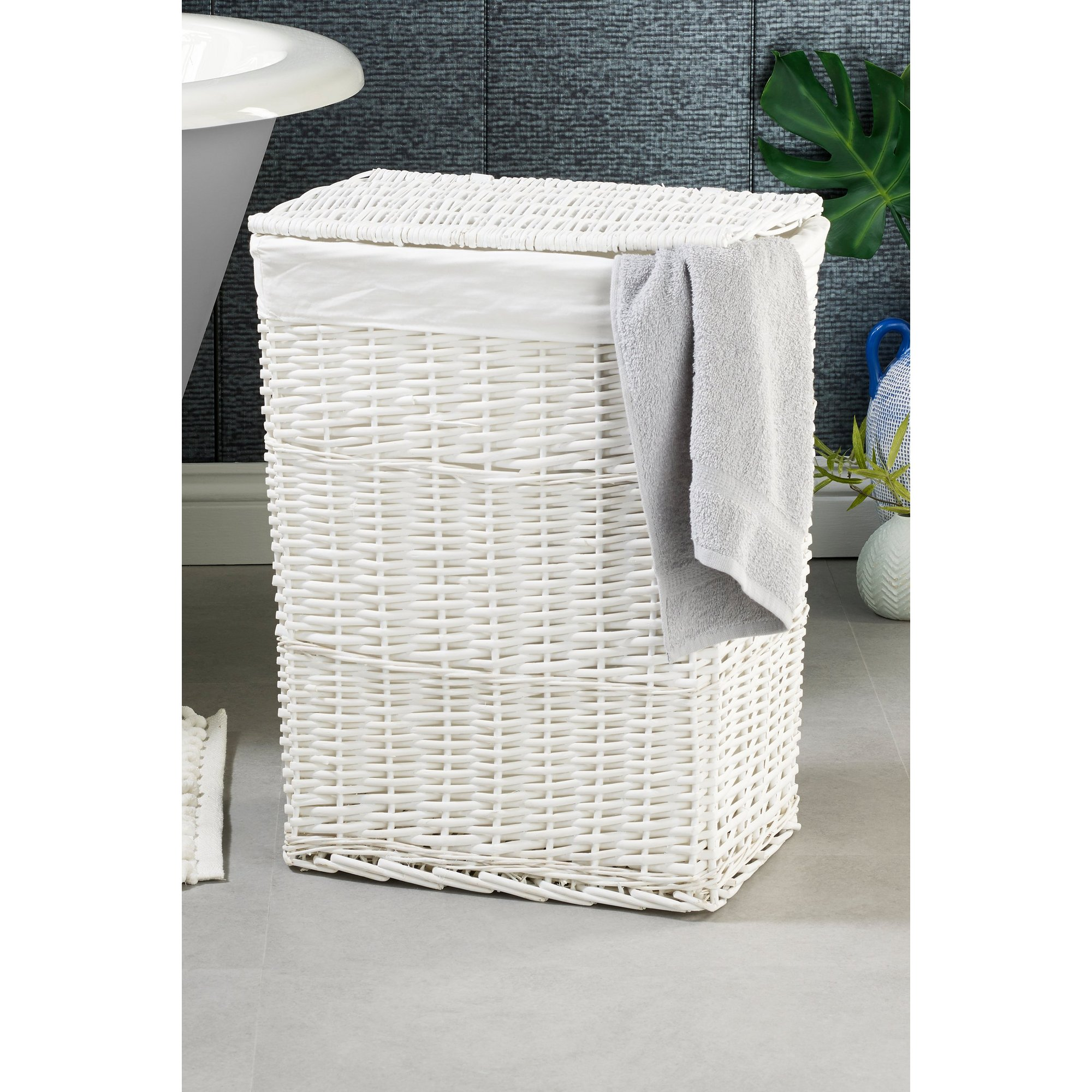 Image of Arpan Large Wicker Laundry Basket