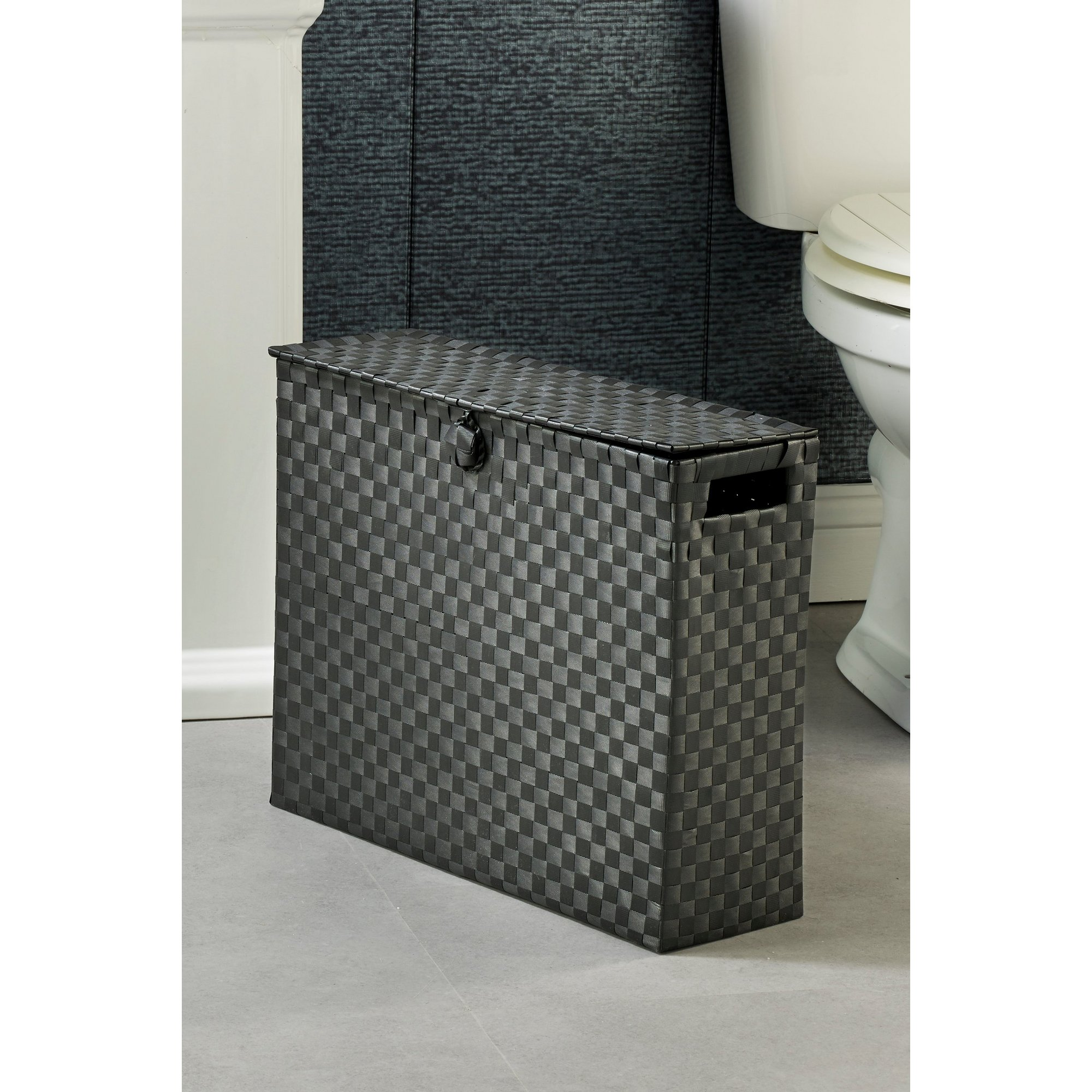 Image of Arpan Black Toilet Roll Holder