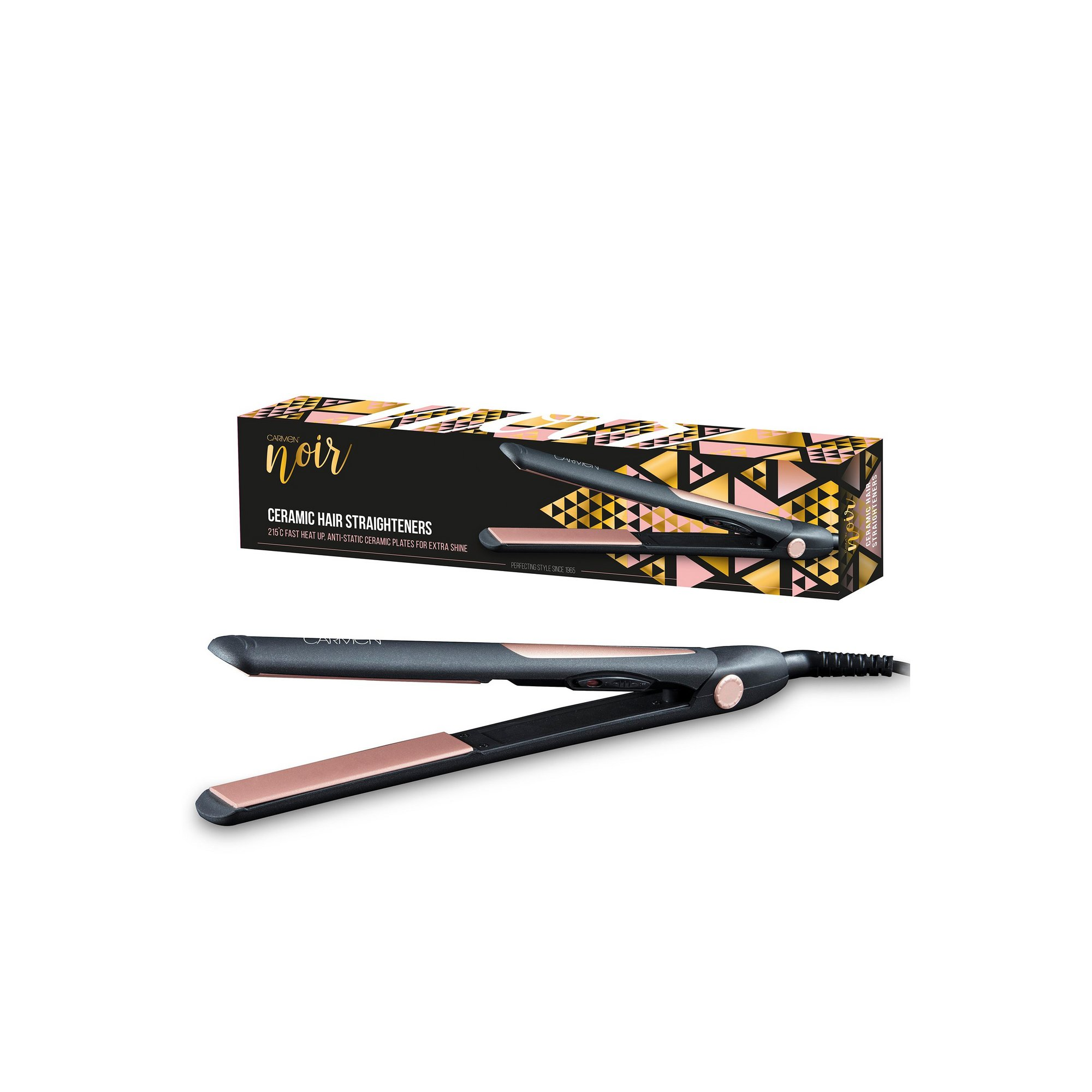 Image of Carmen Noir Ceramic Hair Straightener