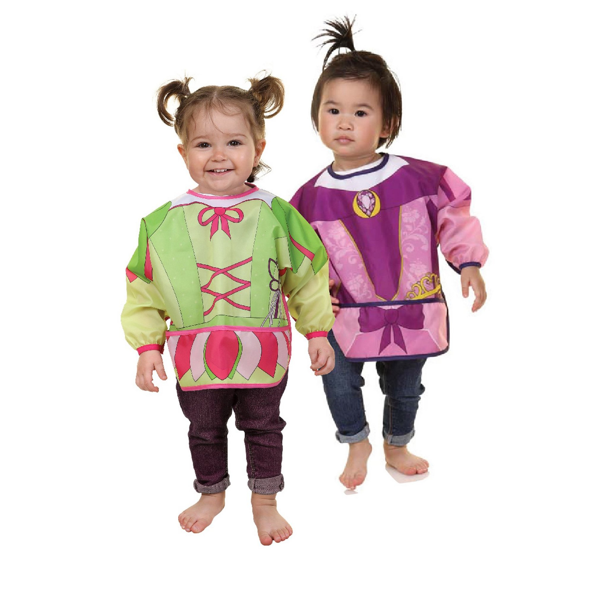 Image of 2 Pack Character Bibs with Sleeves Princess/Fairy