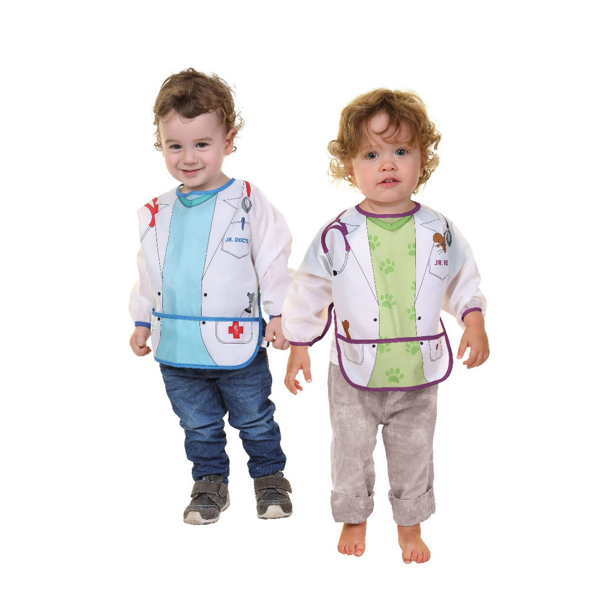 Image of 2 Pack Character Bibs with Sleeves Doctor/Vet
