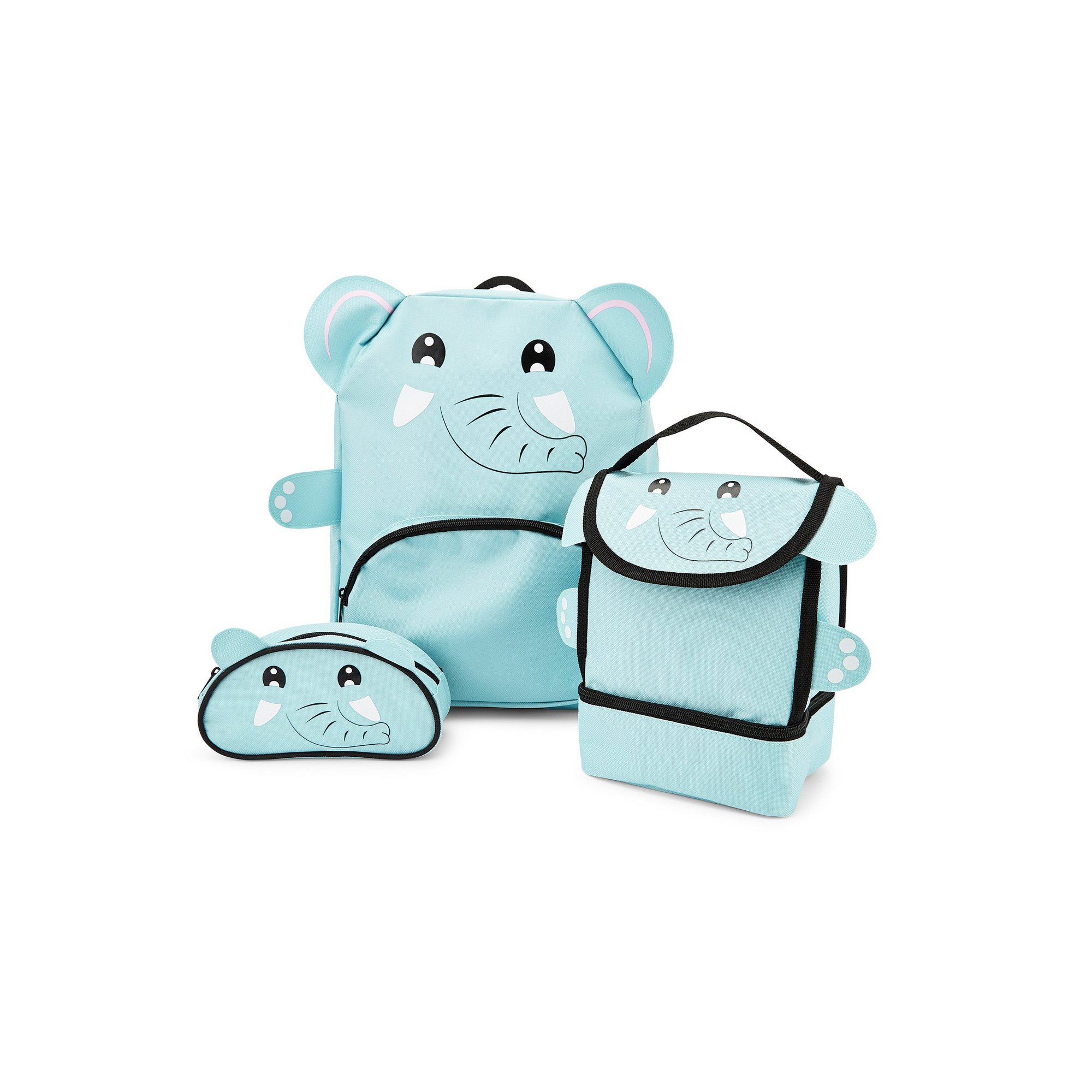 Image of Baby Animal Elephant Backpack&#44 Lunchbag and Pencil Case Set