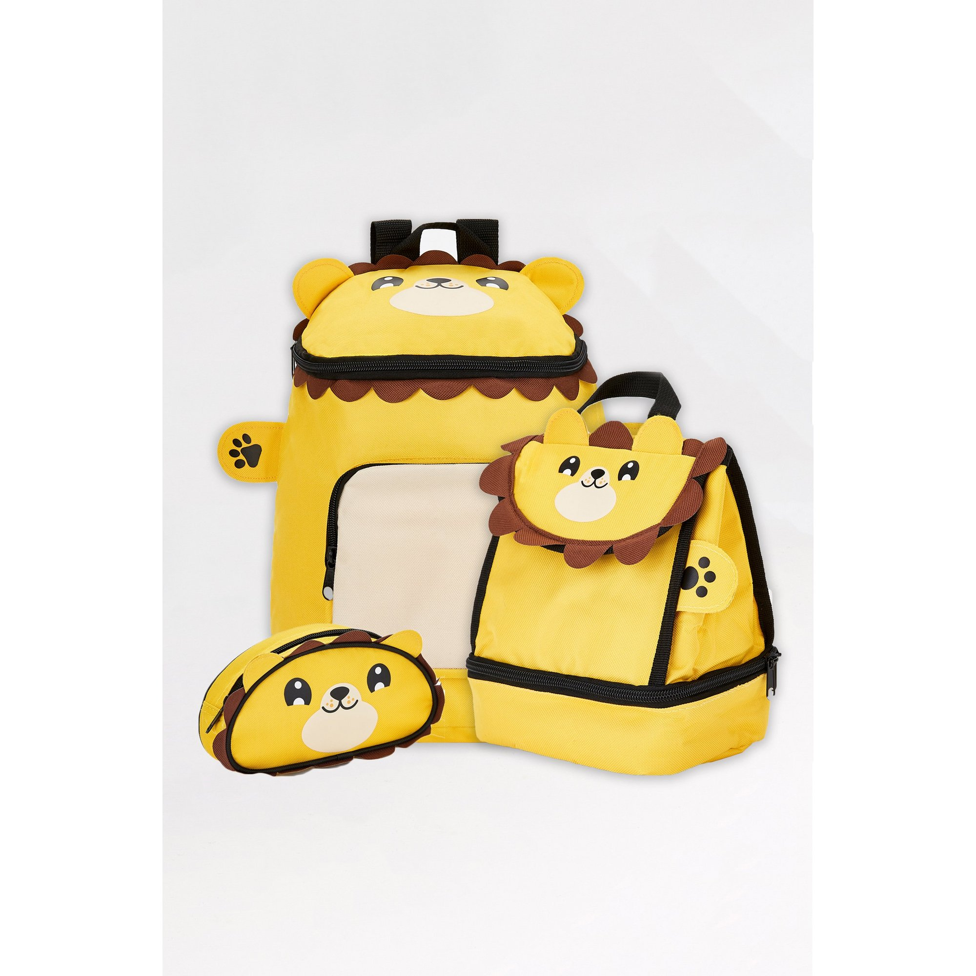 Image of Baby Animal Lion Backpack&#44 Lunchbag and Pencil Case Set