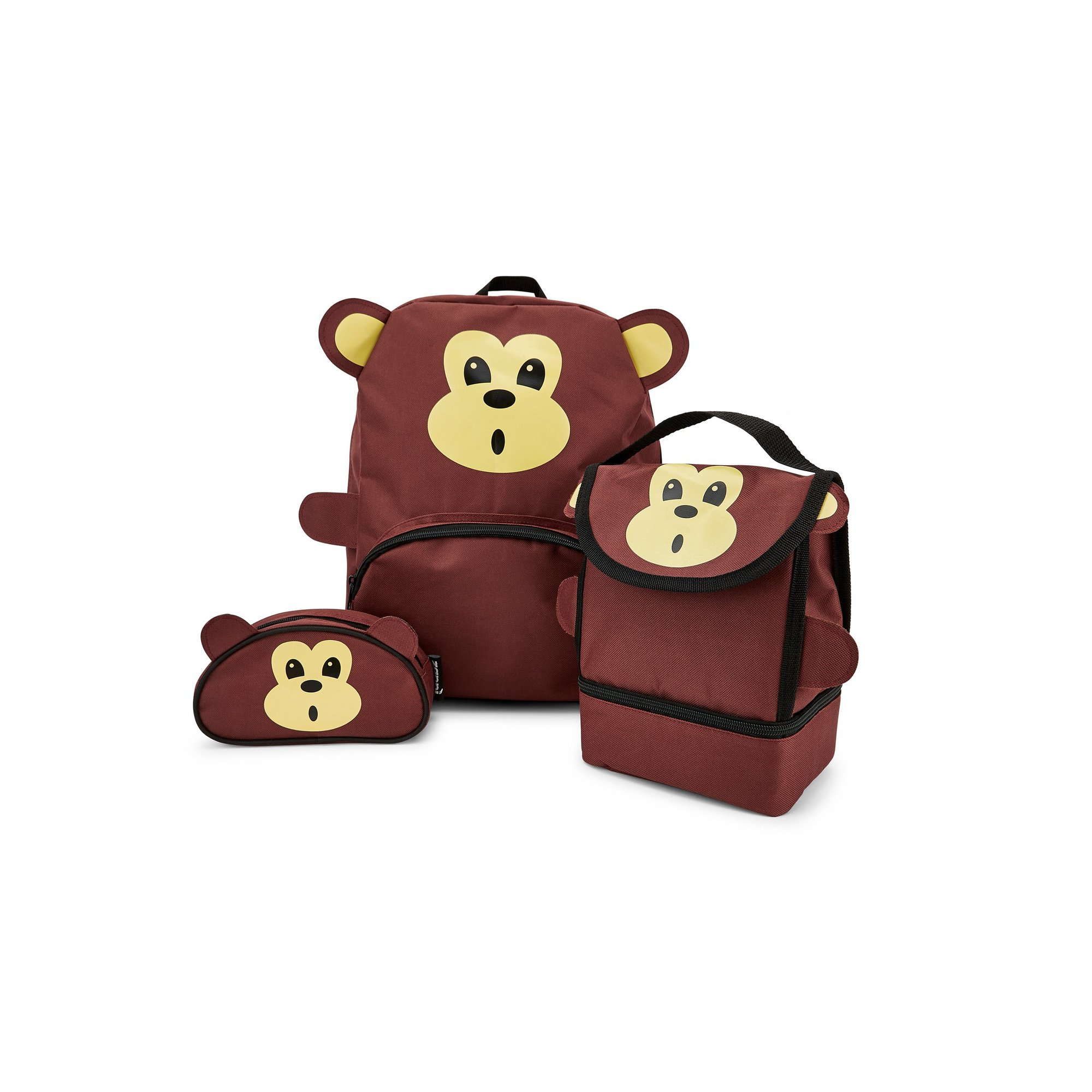 Image of Baby Animal Monkey Backpack&#44 Lunchbag and Pencil Case Set