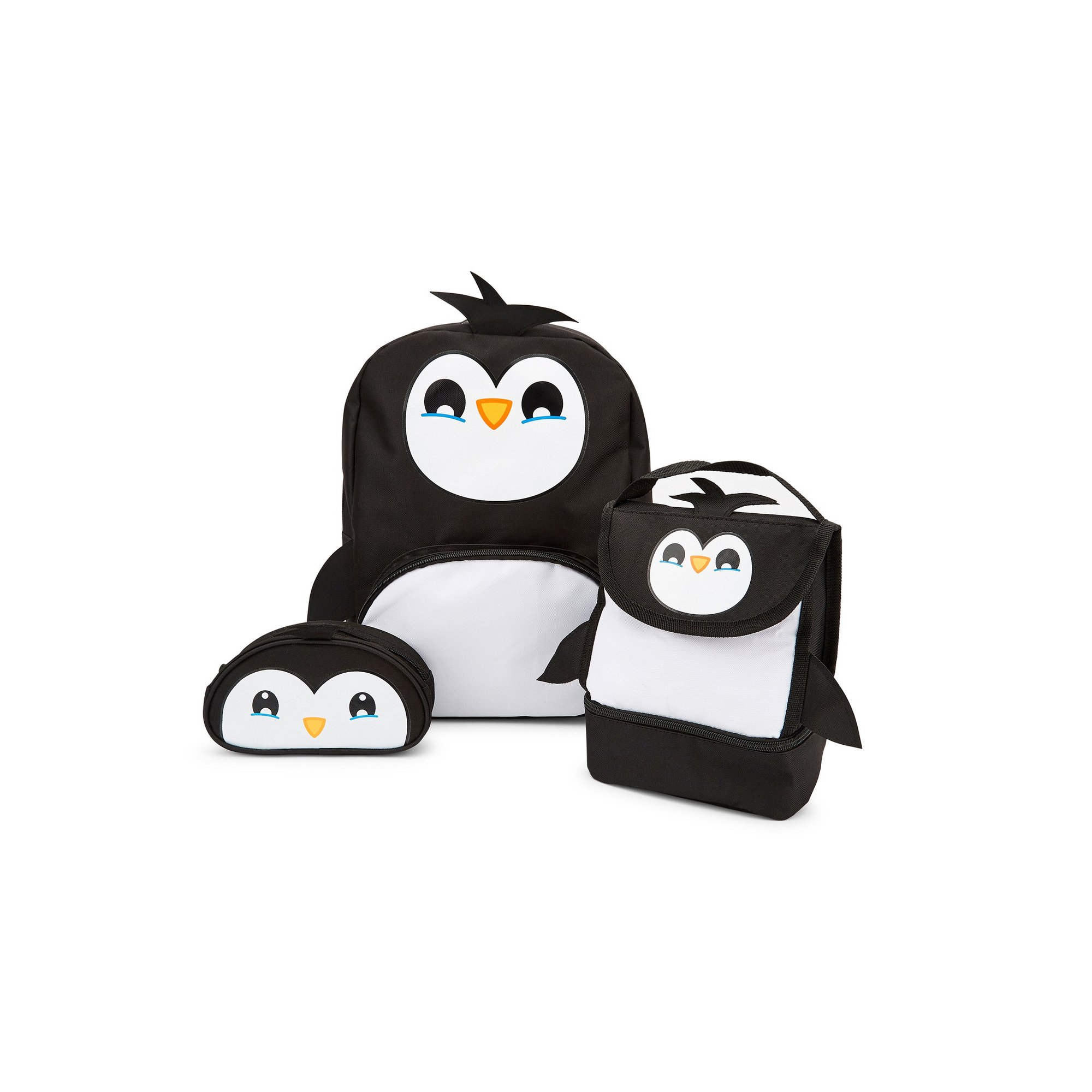 Image of Baby Animal Penguin Backpack&#44 Lunchbag and Pencil Case Set