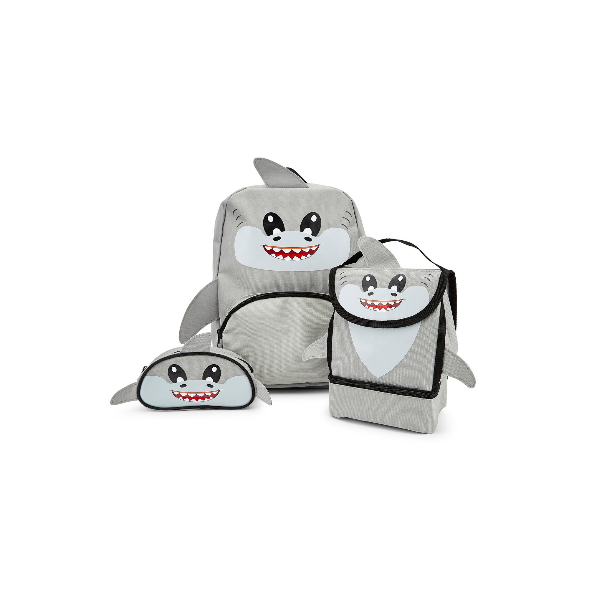 Image of Baby Animal Shark Backpack&#44 Lunchbag and Pencil Case Set
