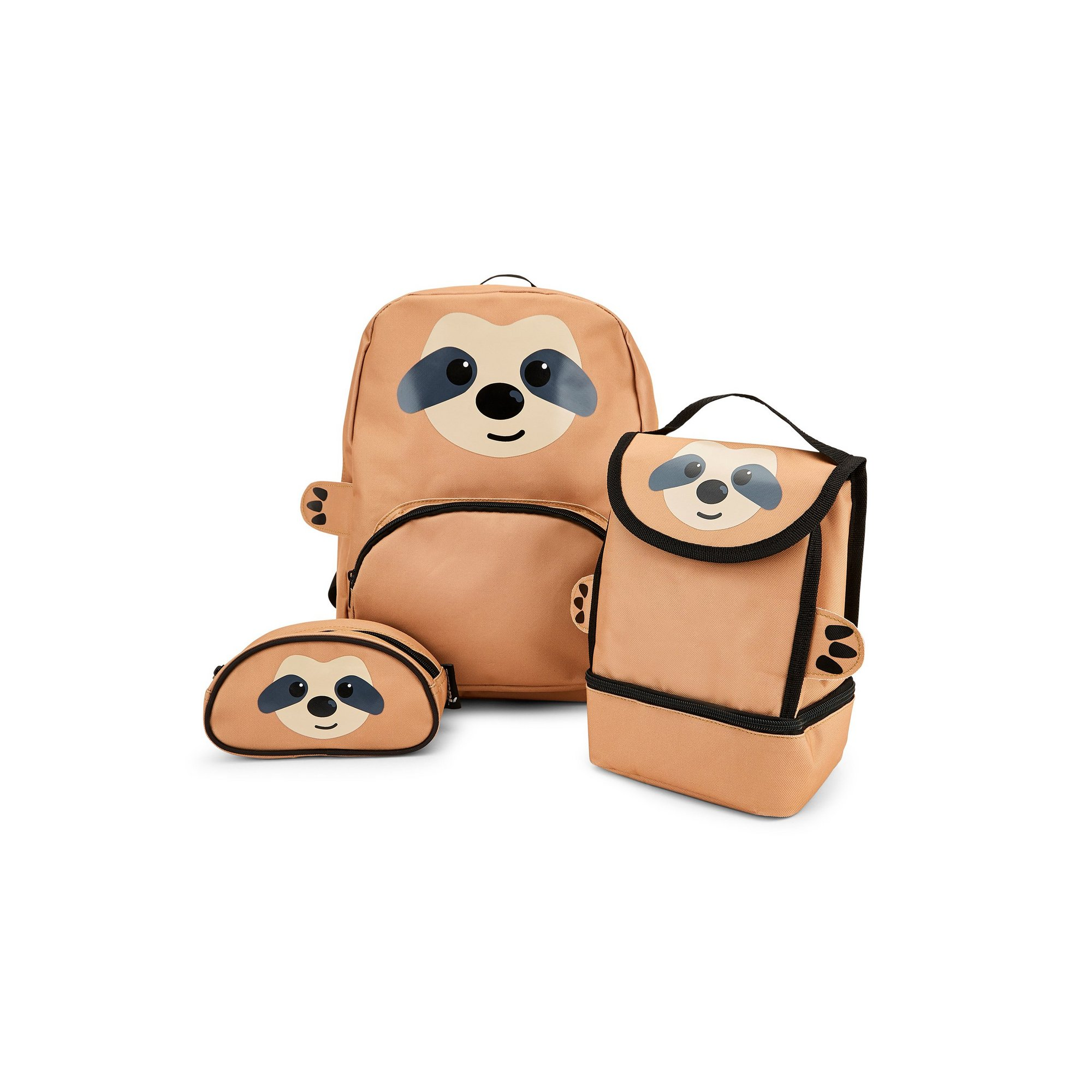 Image of Baby Animal Sloth Backpack&#44 Lunchbag and Pencil Case Set